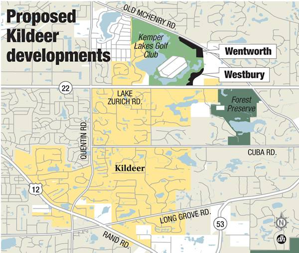Proposed Kildeer developments