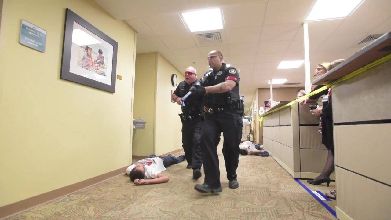 Active shooter response drill
