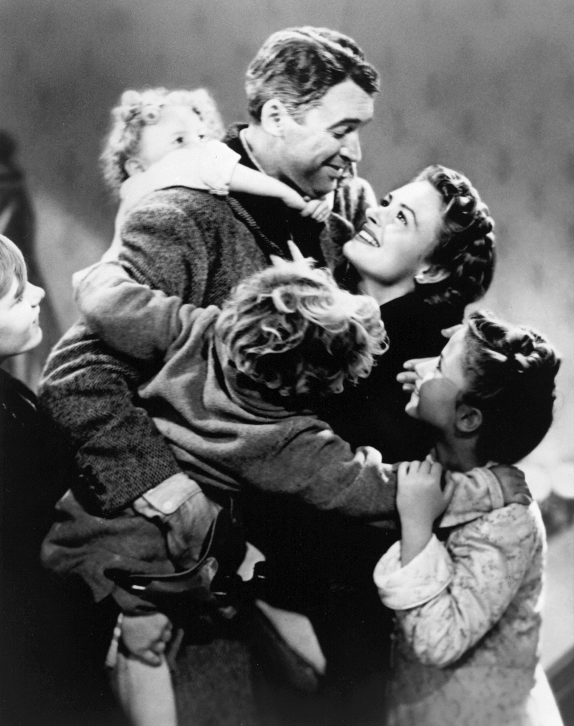"""It's a Wonderful Life,"" starring James Stewart and Donna Reed, will air on NBC at 7 p.m. on Christmas Eve."