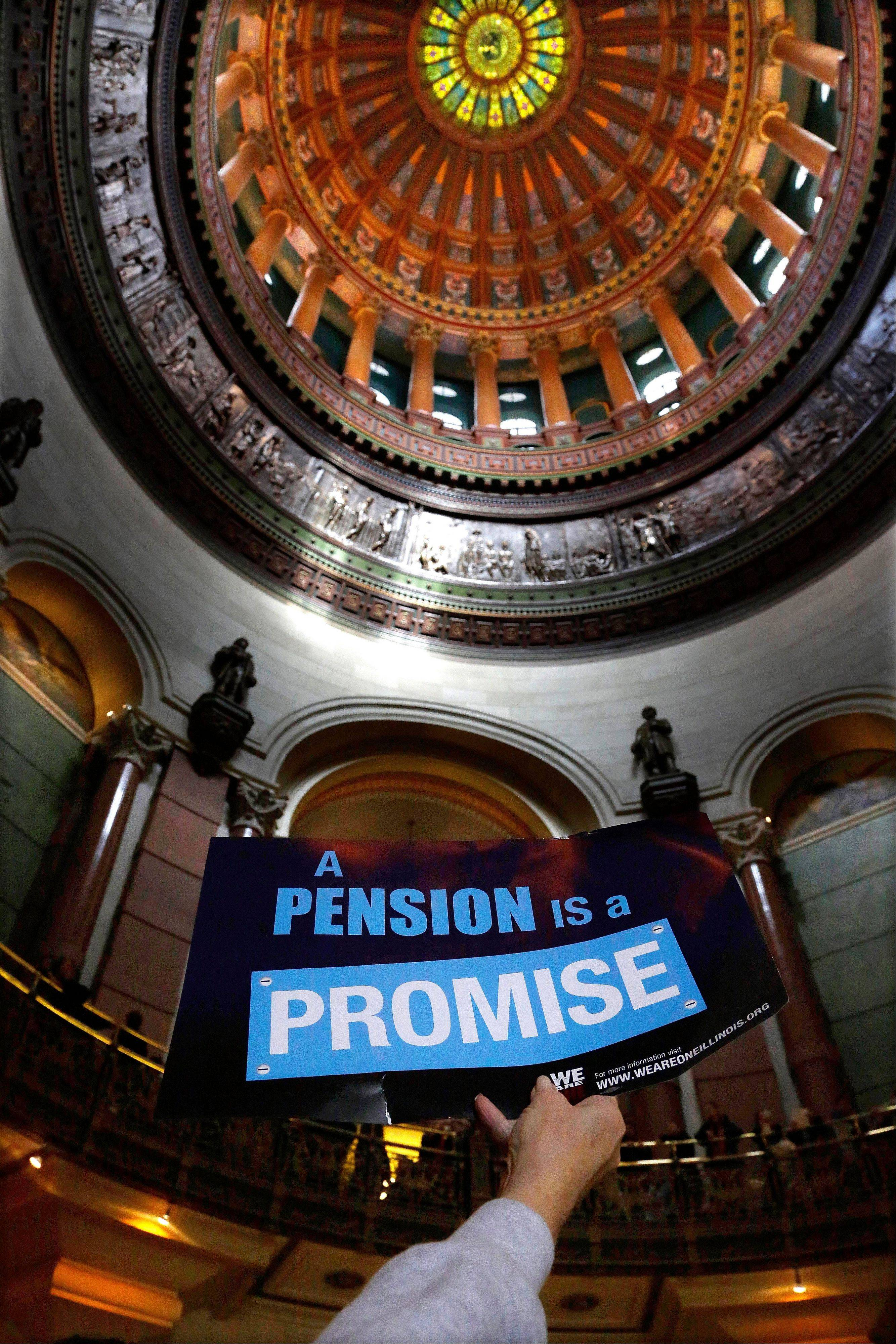 Suburban teachers protest pension changes at Capitol