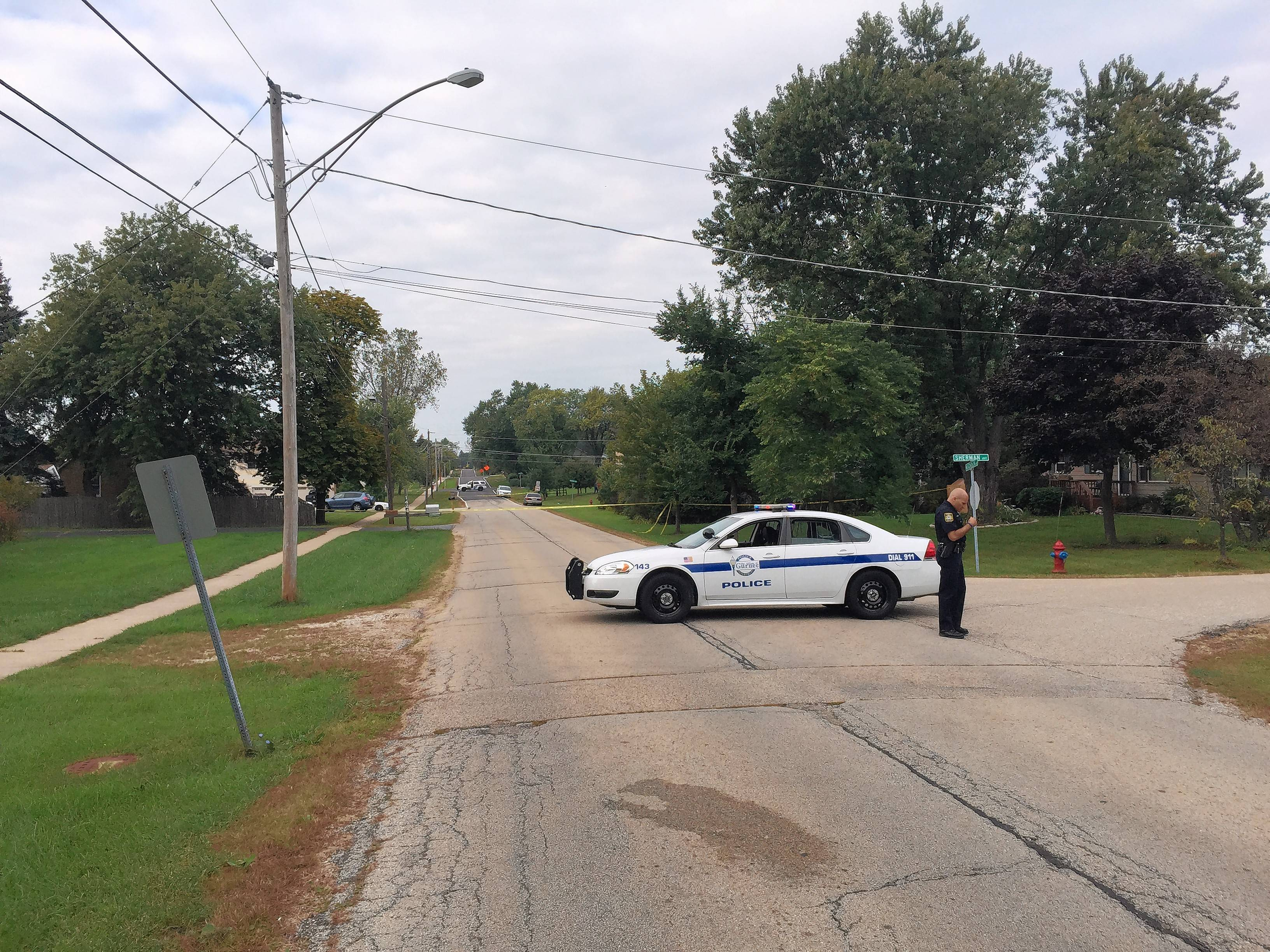 Police in Gurnee set up a perimeter Sunday around the 3700 block of Pacific Avenue while investigating an apparently domestic-related homicide there.