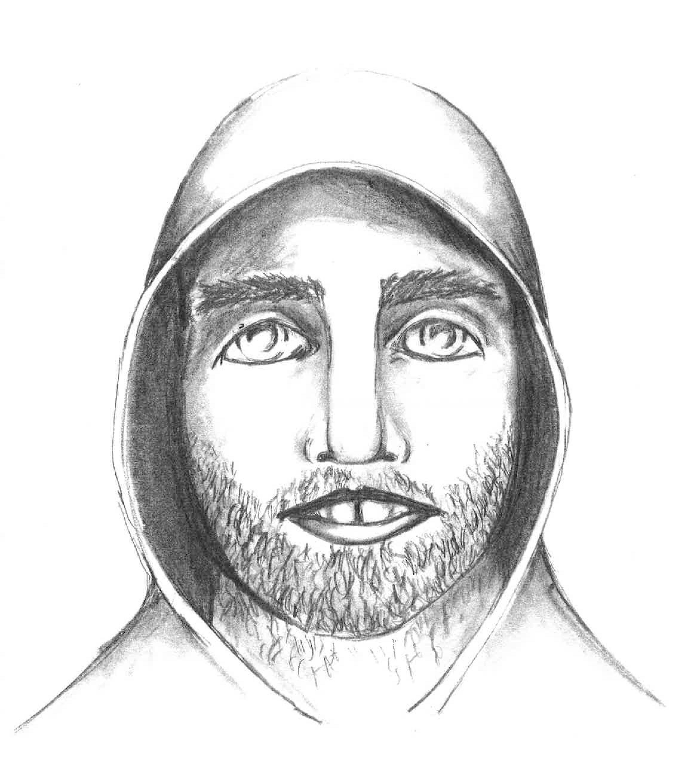 COURTESY OF SOUTH ELGIN POLICE DEPARTMENT South Elgin police released this sketch of a man who attempted to kidnap a woman early Thursday morning in the parking lot of Home Depot.