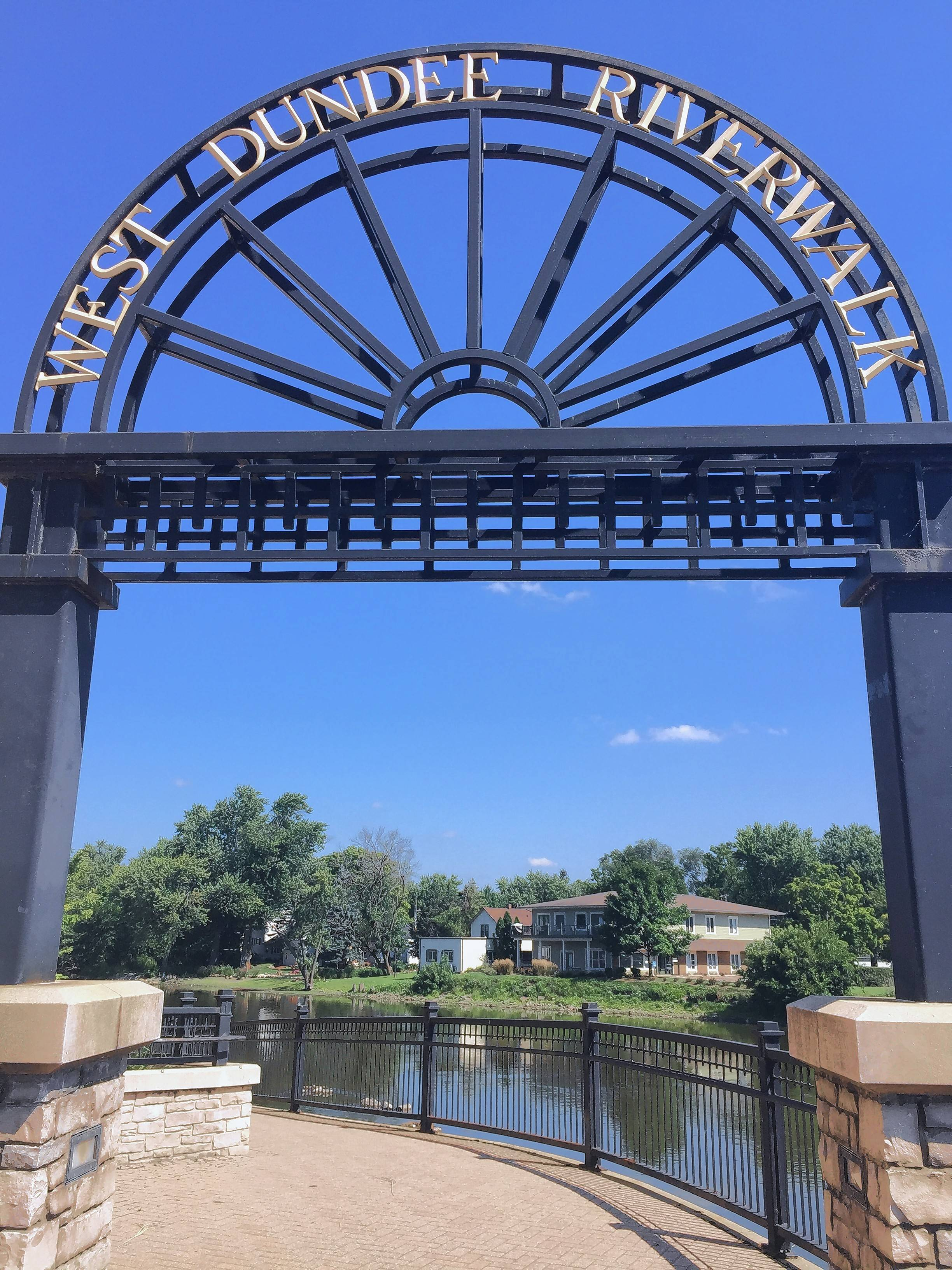 The West Dundee riverwalk gives pedestrians the chance to experience one of the village's most treasured assets and most important recreational areas: The Fox River.