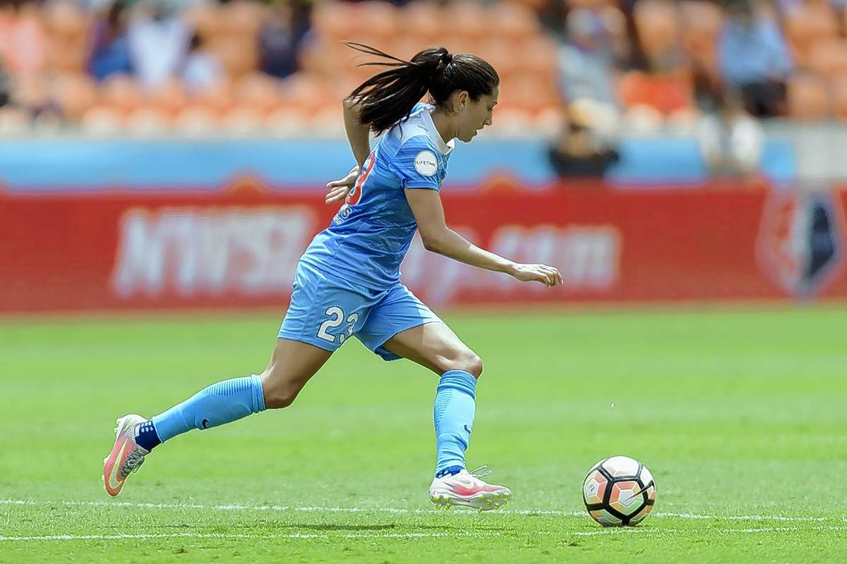 Forward Christen Press and the Chicago Red Stars look to move past the NWSL semifinals this season.