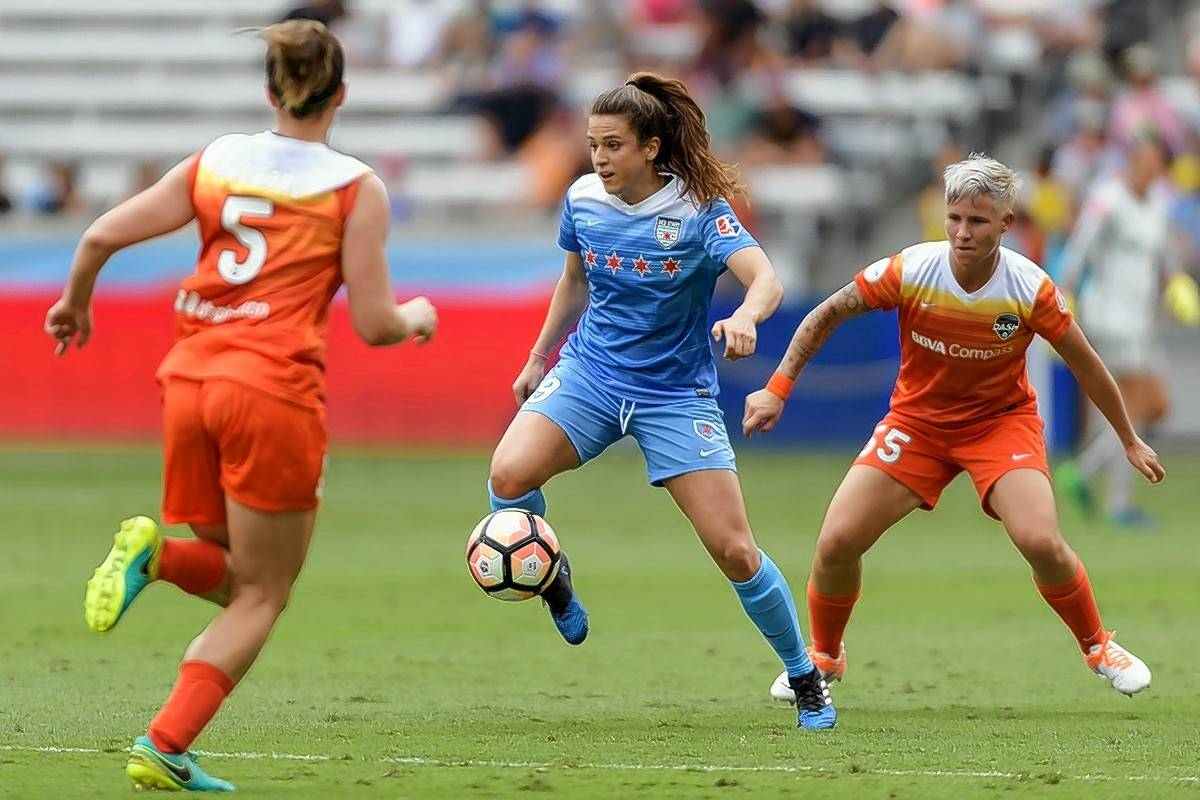 Forward Stephanie McCaffrey and the Chicago Red Stars look to move past the NWSL semifinals this season.