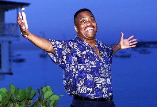 "FILE - In this Aug. 18, 1999 file photo, Cuba Gooding Sr. lead vocalist of the legendary r&b/pop group The Main Ingredient, and father of Oscar winning actor Cuba Gooding Jr., gestures during an interview in Bridgetown, Barbados. Gooding Sr., who sang the 1972 hit ""Everybody Plays the Fool,� has died. Authorities say the 72-year-old singer was found dead due an unknown cause in a car Thursday, April 20, 2017, in the Woodland Hills section of Los Angeles."