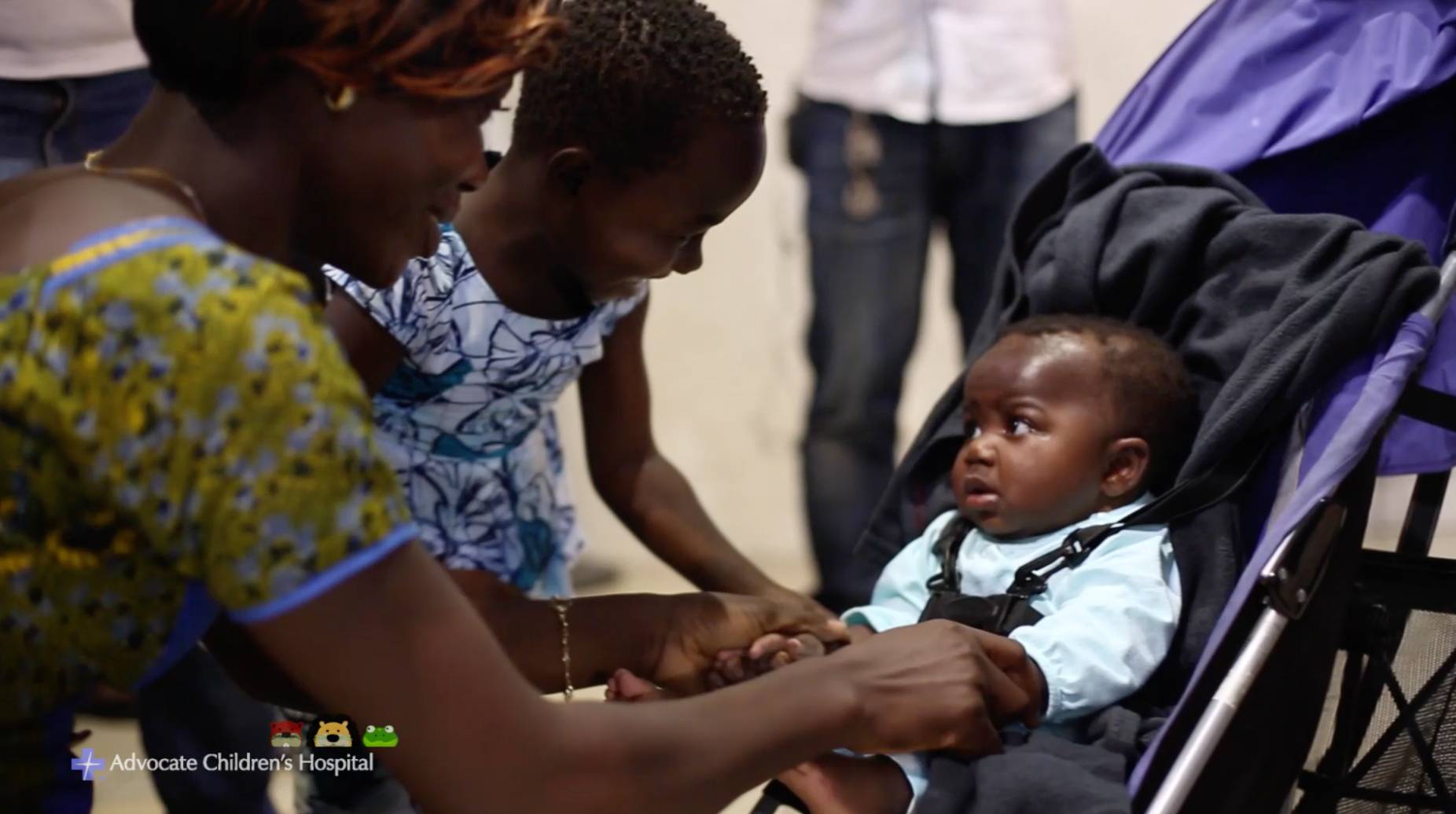 Baby born with 4 legs reunited with family in Africa after surgery