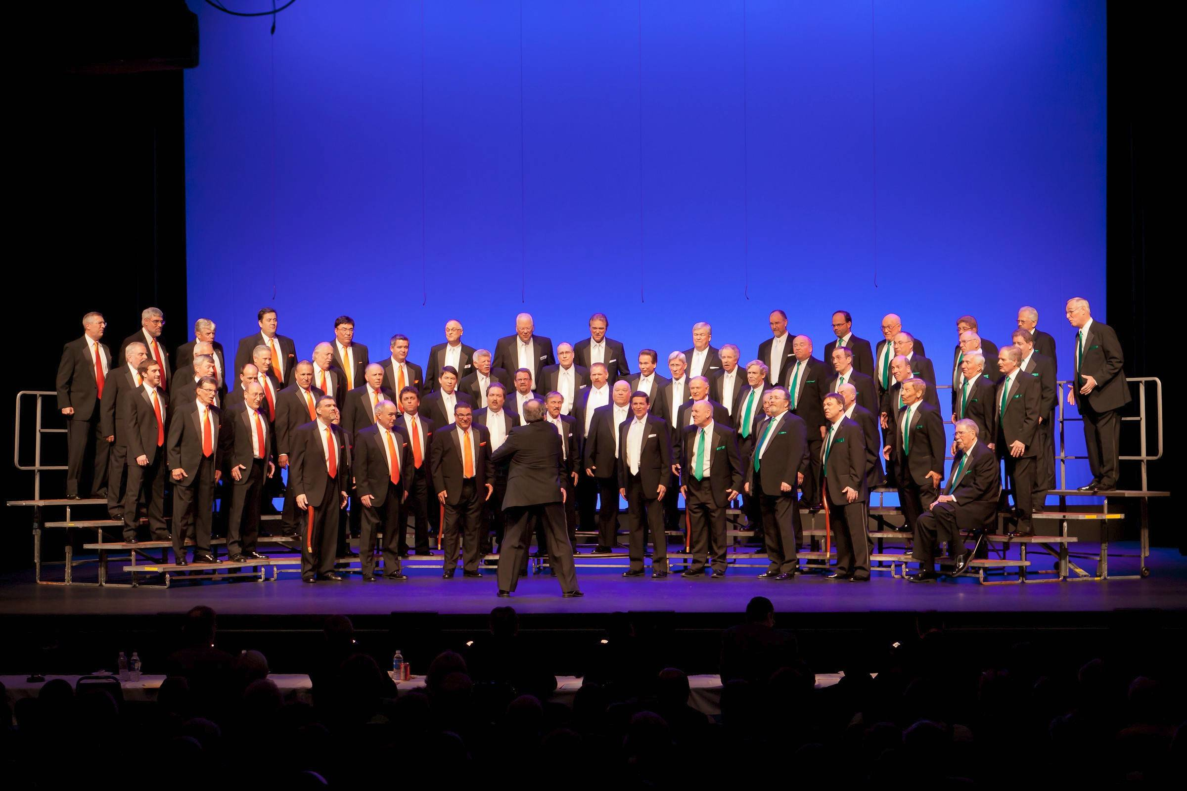 The New Tradition Chorus, above, will perform with the Purdue Varsity Glee Club at St. Viator High School in Arlington Heights.