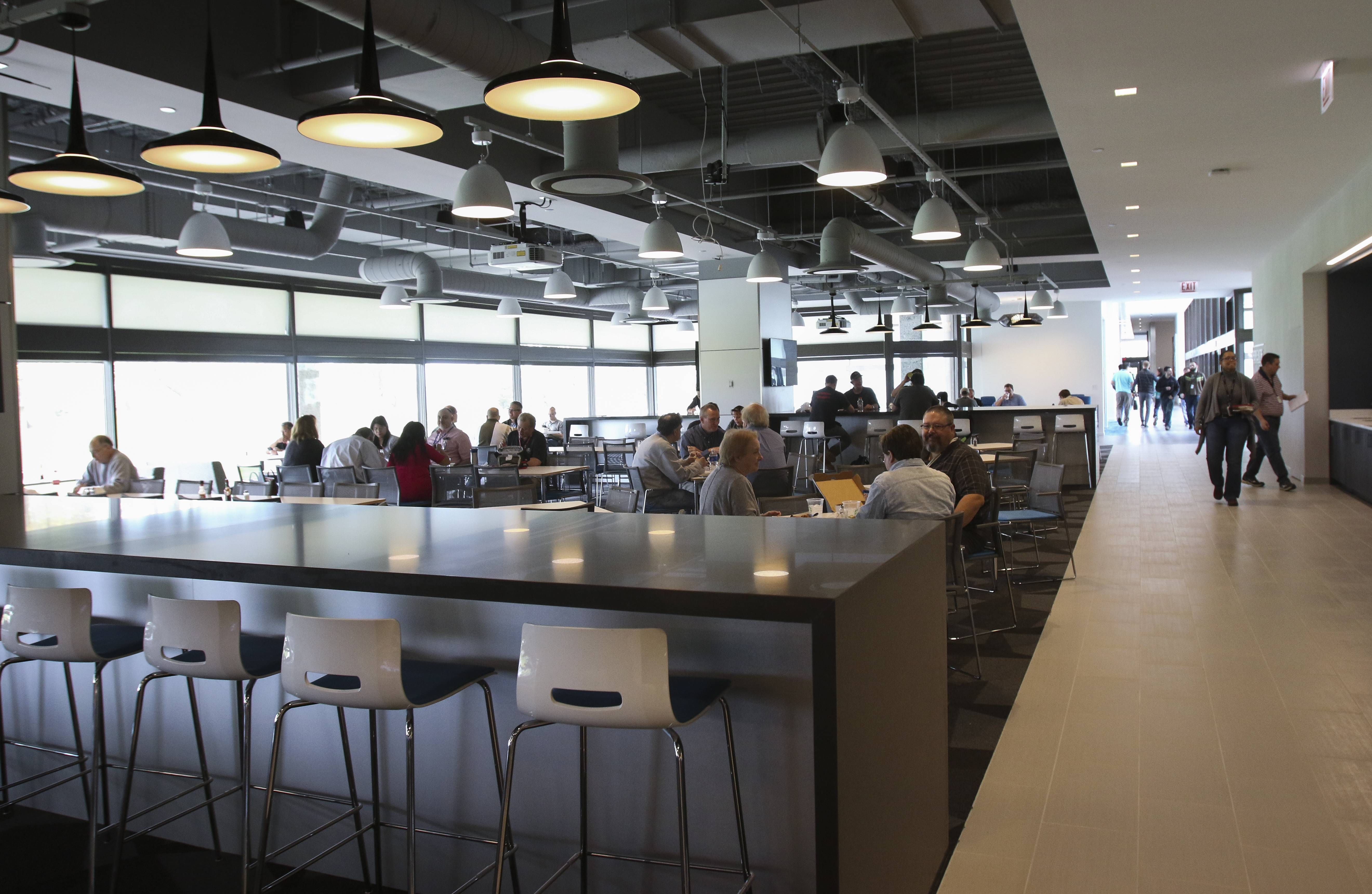 A cafeteria and place for public events is part of the renovation at Motorola Solutions in Schaumburg.