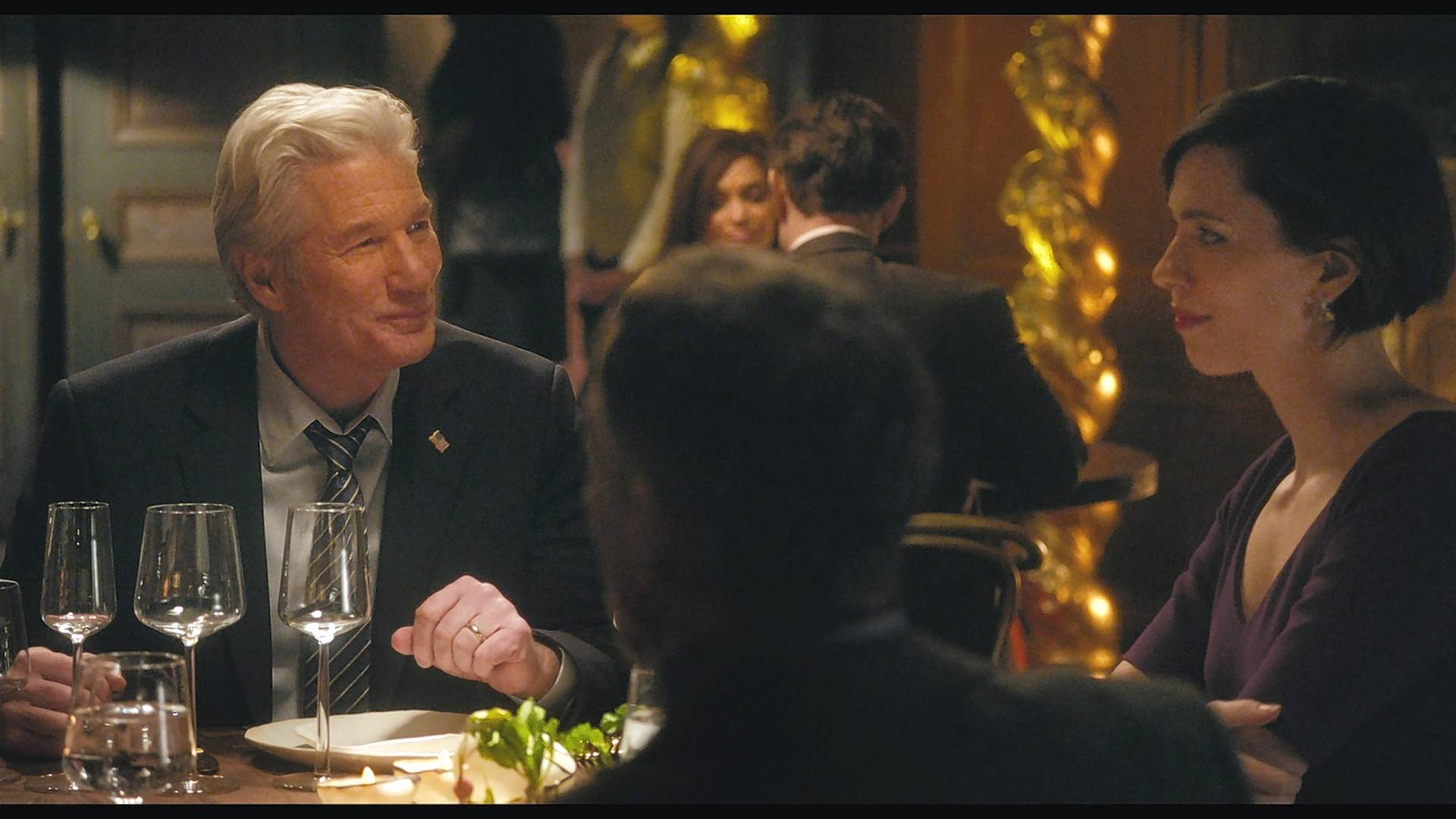 "A congressman named Stan (Richard Gere) and his wife Kate (Rebecca Hall) sit down for a life-changing talk during ""The Dinner."""