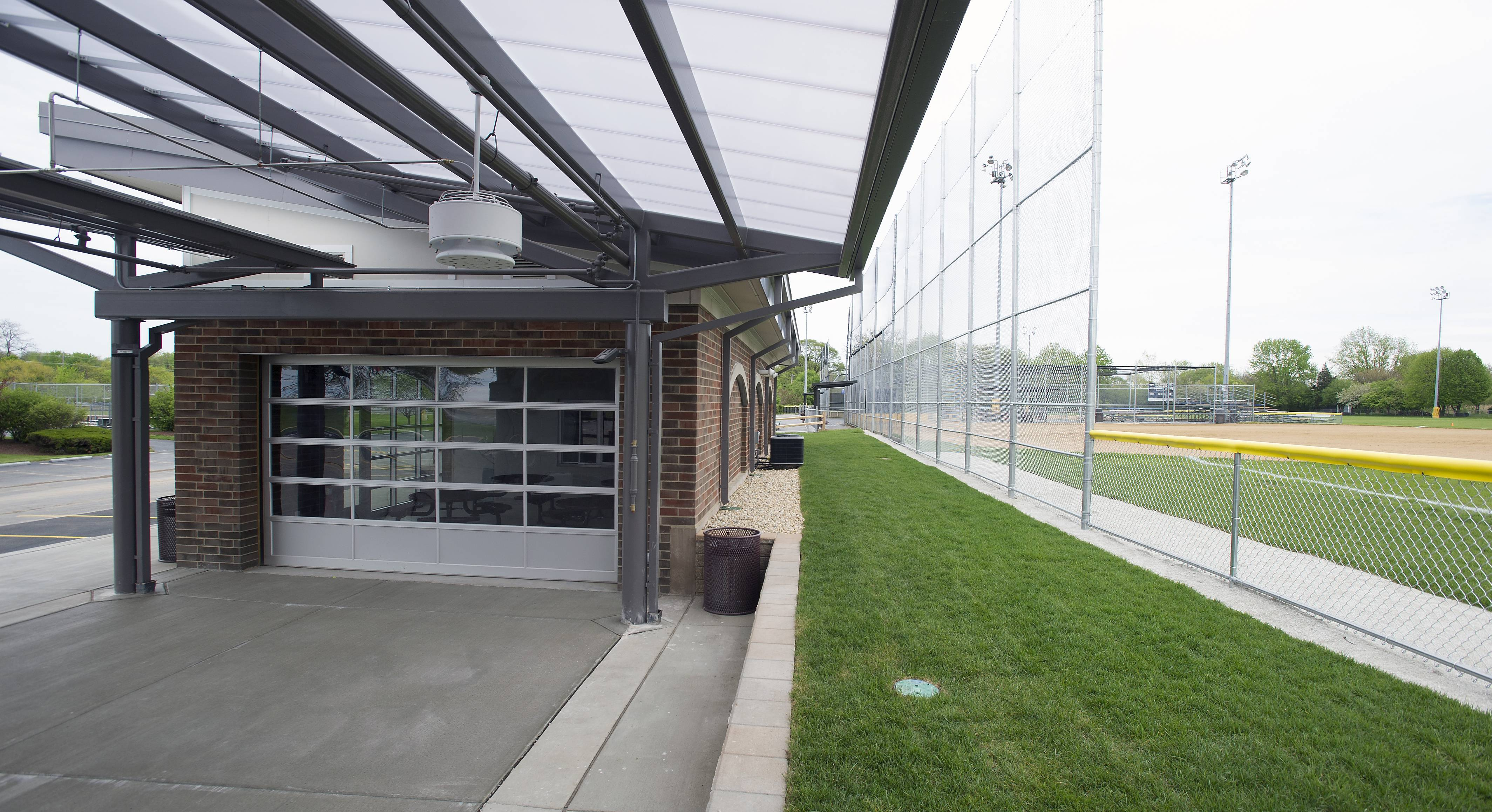 The Elk Grove Park District completed a $2.2 million project at the Community Athletic Field on Arlington Heights Road which includes new concession stands, water misters and a covered area next to the baseball field.