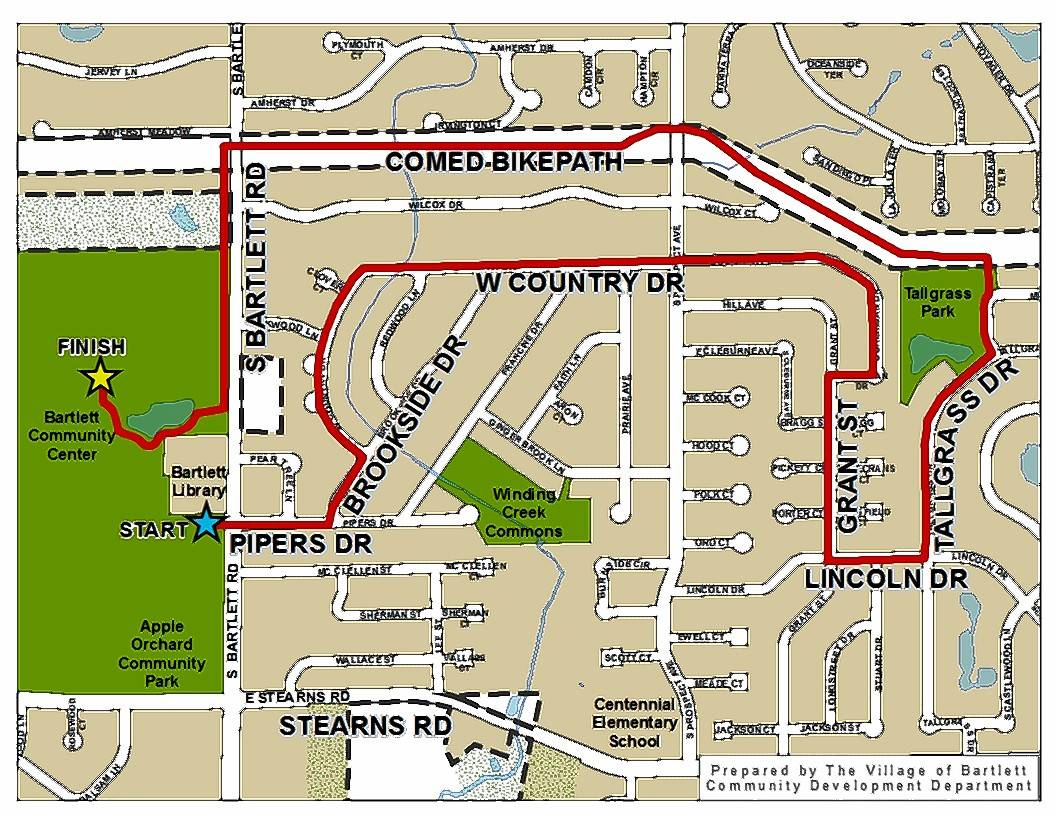 Bartlett police have issued a traffic advisory for the Bartlett Park District's Apple Blossom Run on Saturday, May 13.