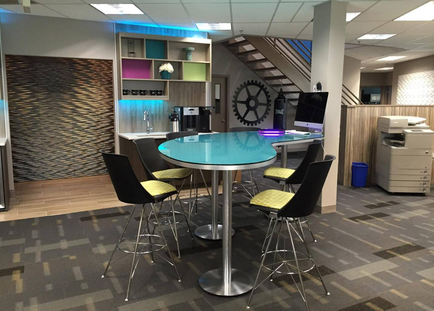 An office design proposal for a conference room at Ahlbeck & Company in Des Plaines.