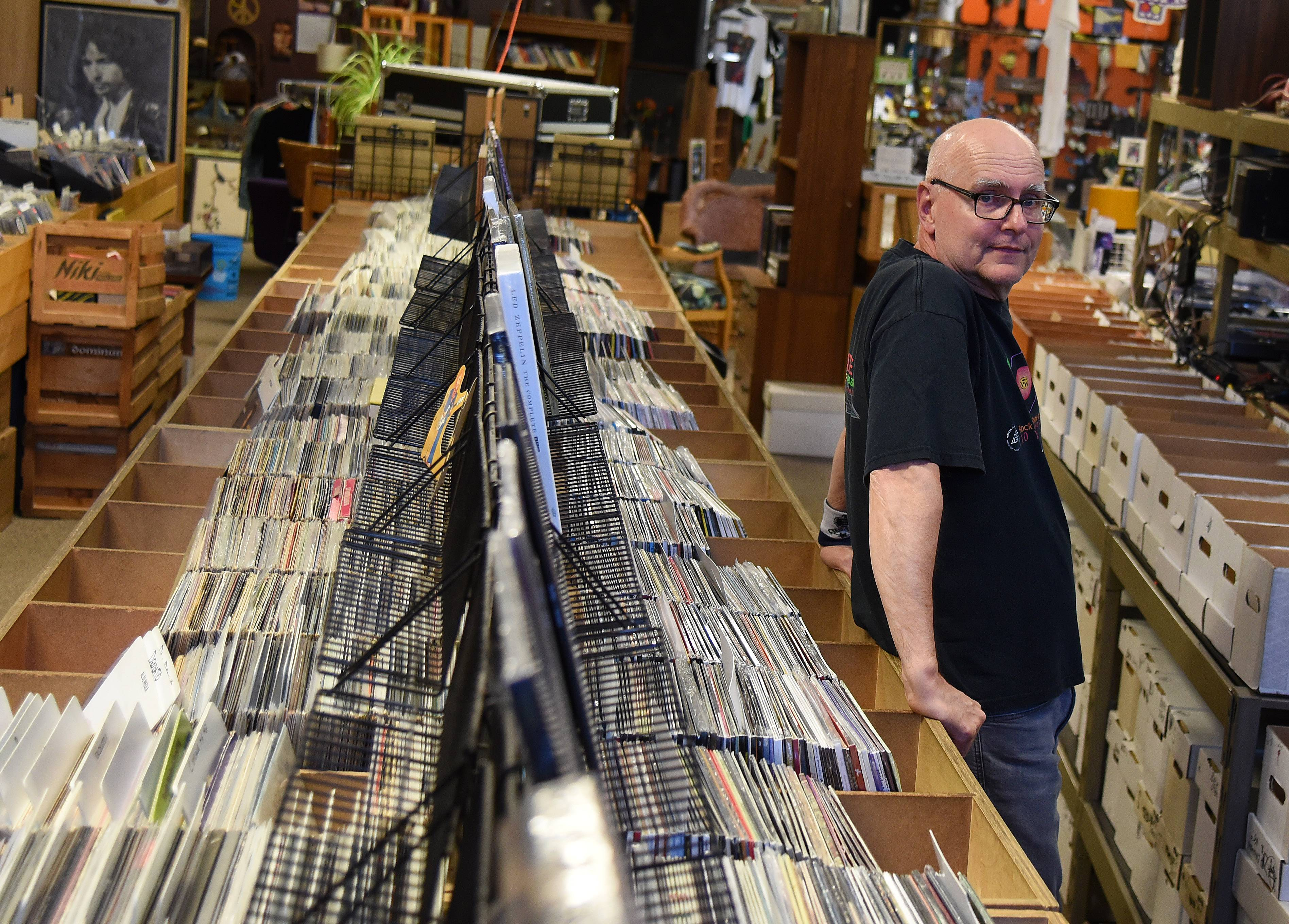 There has been a renewed interest in vinyl records over the past decade, according to Mike Messerschmidt, co-founder of Kiss the Sky records in Batavia.