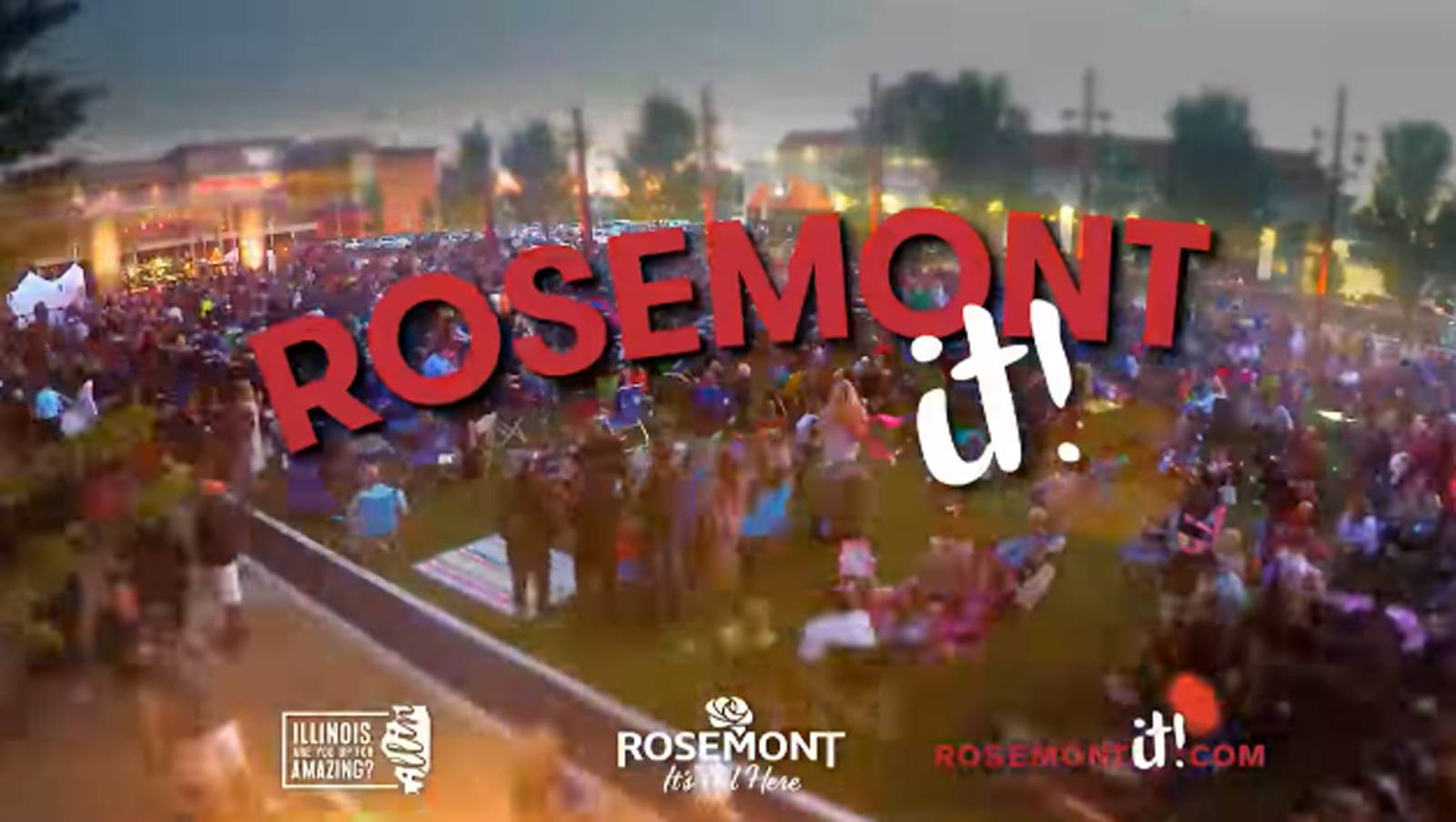 "Commercials promoting Rosemont have begun airing on local TV, and include an R&B-inspired song called ""Rosemont It!"""