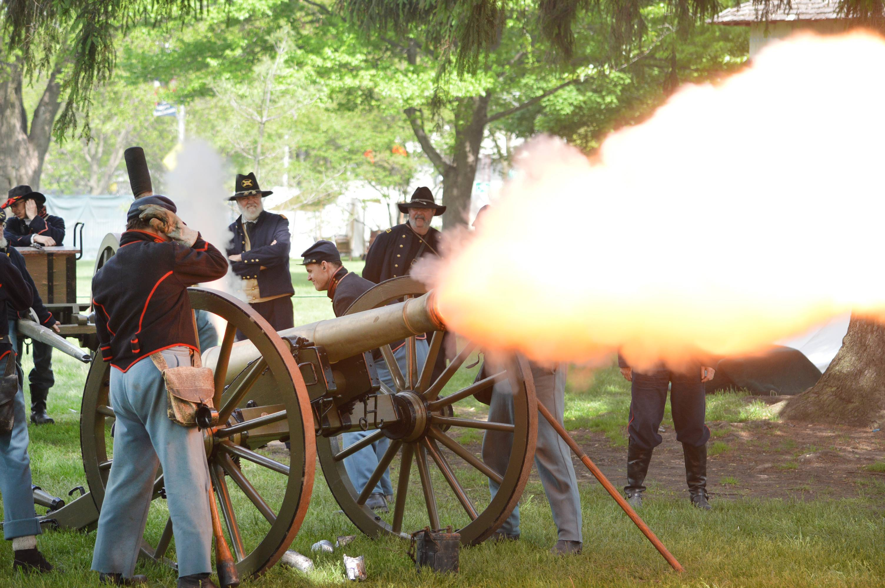 Watch staged battles during Civil War Days Saturday and Sunday, May 20-21, at Naper Settlement in Naperville.