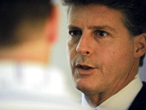 "FILE- This Aug. 17, 2016 file photo shows New York Yankees owner Hal Steinbrenner talking to the media at the baseball owners' meetings in Houston. Given his team's fast start after jettisoning veterans last summer, Steinbrenner will consider adding players as the trade deadline approaches in July. Steinbrenner said New York will not trade top prospects. Speaking Wednesday, May 17, 2017 at the baseball owners' meeting, he said starting pitching has been a ""pleasant surprise.� (AP Photo/Eric Christian Smith, file)"