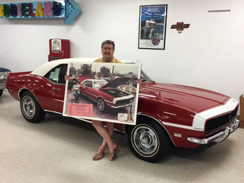 Mettawa resident Chris Piscitello with the first car he purchased in 1975 when he was 15 years old.