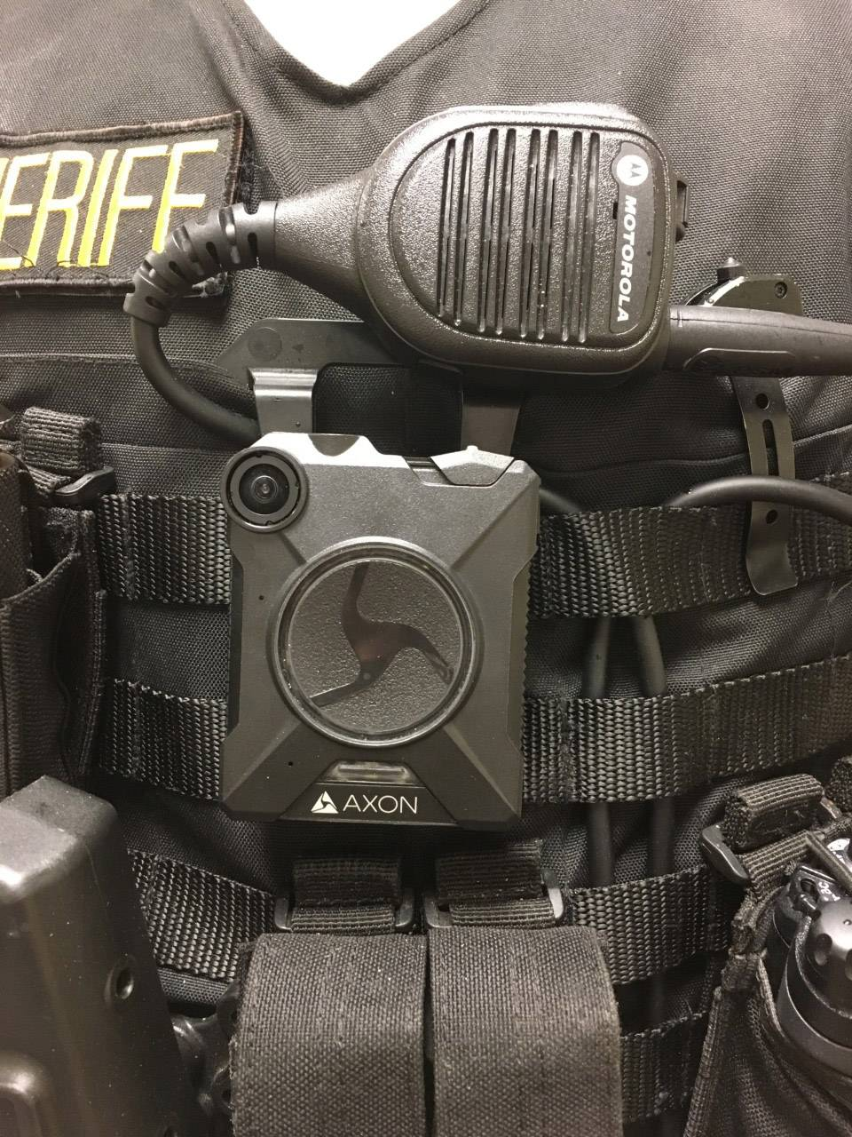 Body camera worn by Lake County Sheriff's officers.