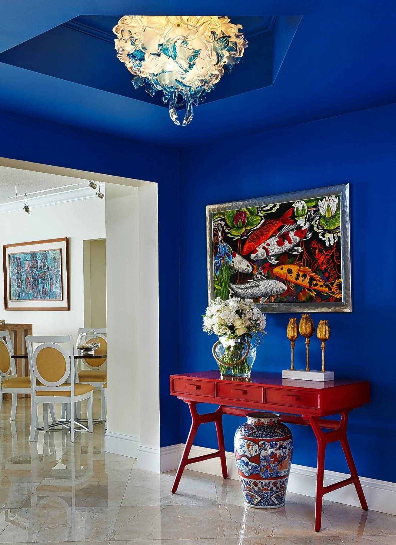 Cobalt blue can add a splash of bold color to any room.