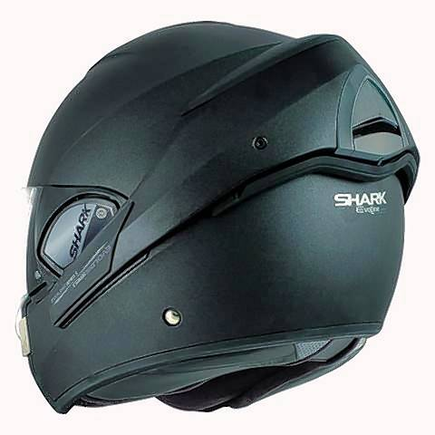 The Shark Evoline 3 can be worn with the face shield down, or as an open-faced helmet.
