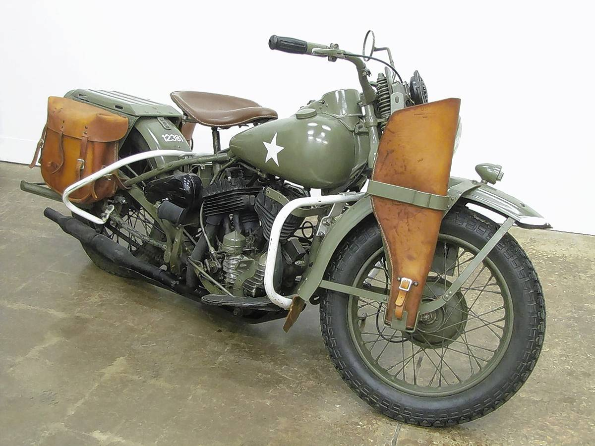 COURTESY OF THE NATIONAL MOTORCYCLE MUSEUM The Harley-Davidson WLA was primarily used for courier service during the war, running messages on bases and in the field. Visit www.nationalmcmuseum.org.