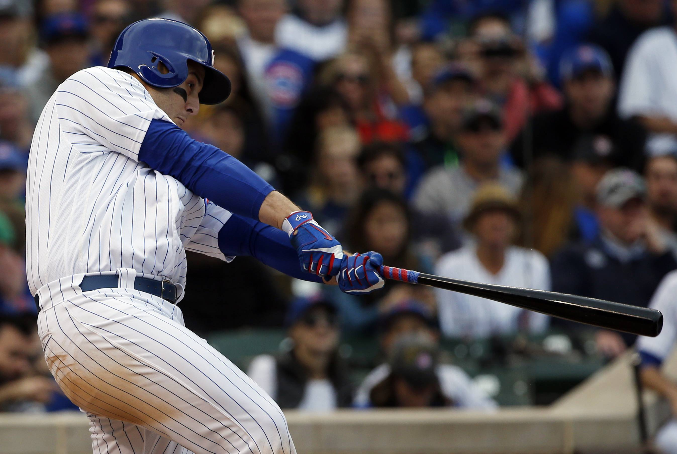 Chicago Cubs' left-handed hitter Anthony Rizzo has had some trouble hitting into the infield shift, according to manager Joe Maddon.