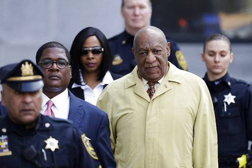 FILE – In this Feb. 27, 2017, file photo, Bill Cosby departs after a pretrial hearing in his sexual assault case at the Montgomery County Courthouse in Norristown, Pa. A crucial phase of Cosby's sex assault trial starts Monday, May 22, 2017, when lawyers gather in Pittsburgh to pick the jury that will decide if the actor drugged and molested Andrea Constand, a Temple University women's basketball team manager, at his home near Philadelphia in 2004. (AP Photo/Matt Slocum, File)