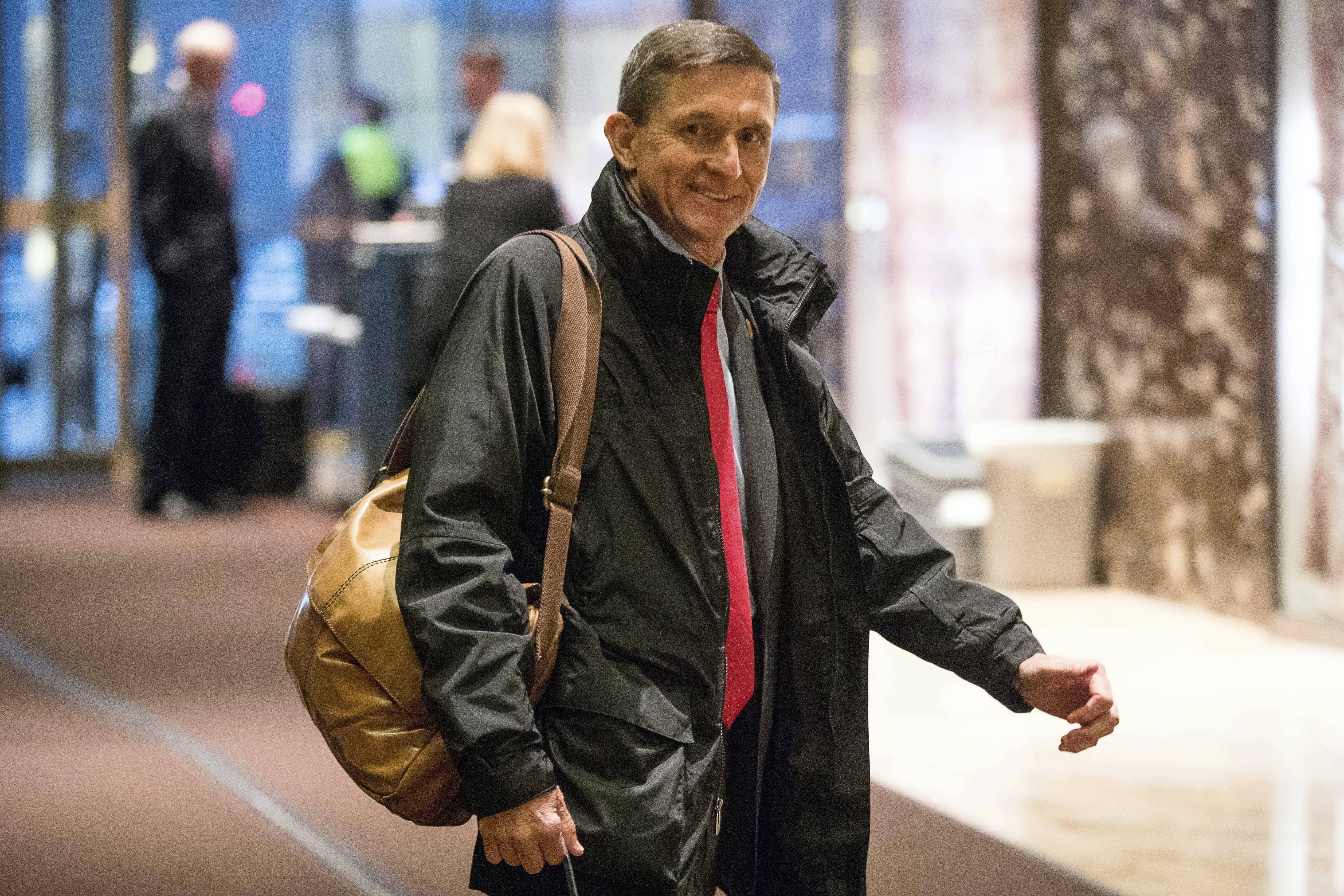 Former National Security Adviser Michael Flynn will provide some documents to the Senate intelligence committee as part of its probe into Russia's meddling in the 2016 election. A person close to Flynn says that he will be turning over documents related to two of his businesses as well as some personal documents that the committee requested in May 2017. The person says that Flynn plans to produce documents by next week. (AP Photo/Andrew Harnik, File)