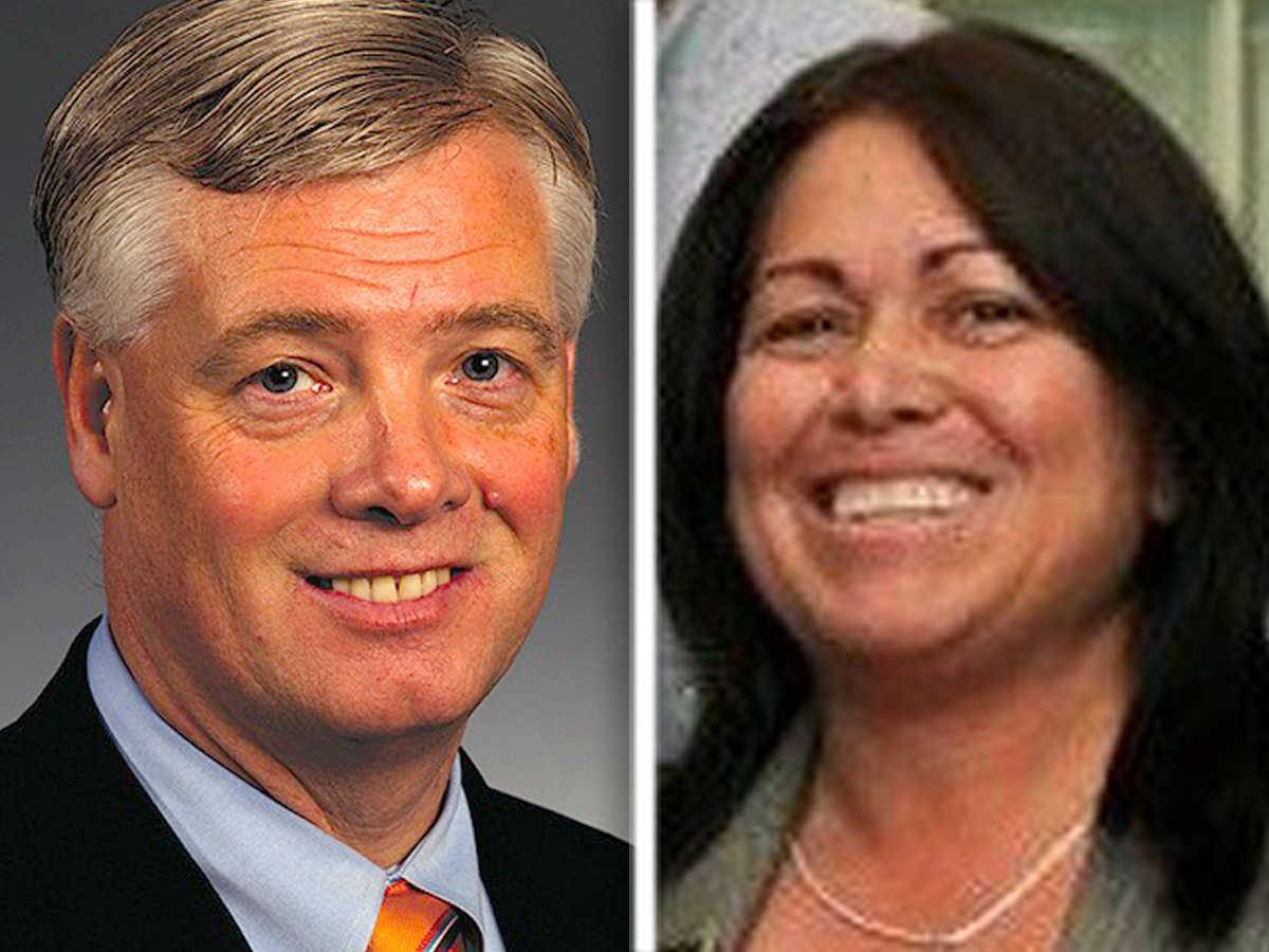 Former College of DuPage administrators Thomas Glaser, left, and Lynn Sapyta filed a federal lawsuit after they were fired in 2015. A tentative settlement has been reached in the case, according to court records.