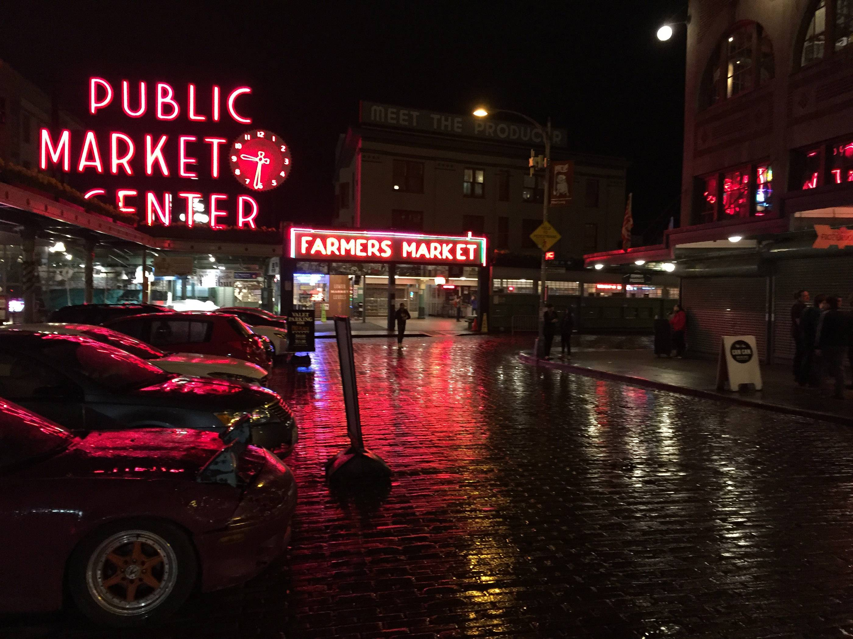 Seattle's Public Market, commonly called Pike Street Market, after the main street of entry.