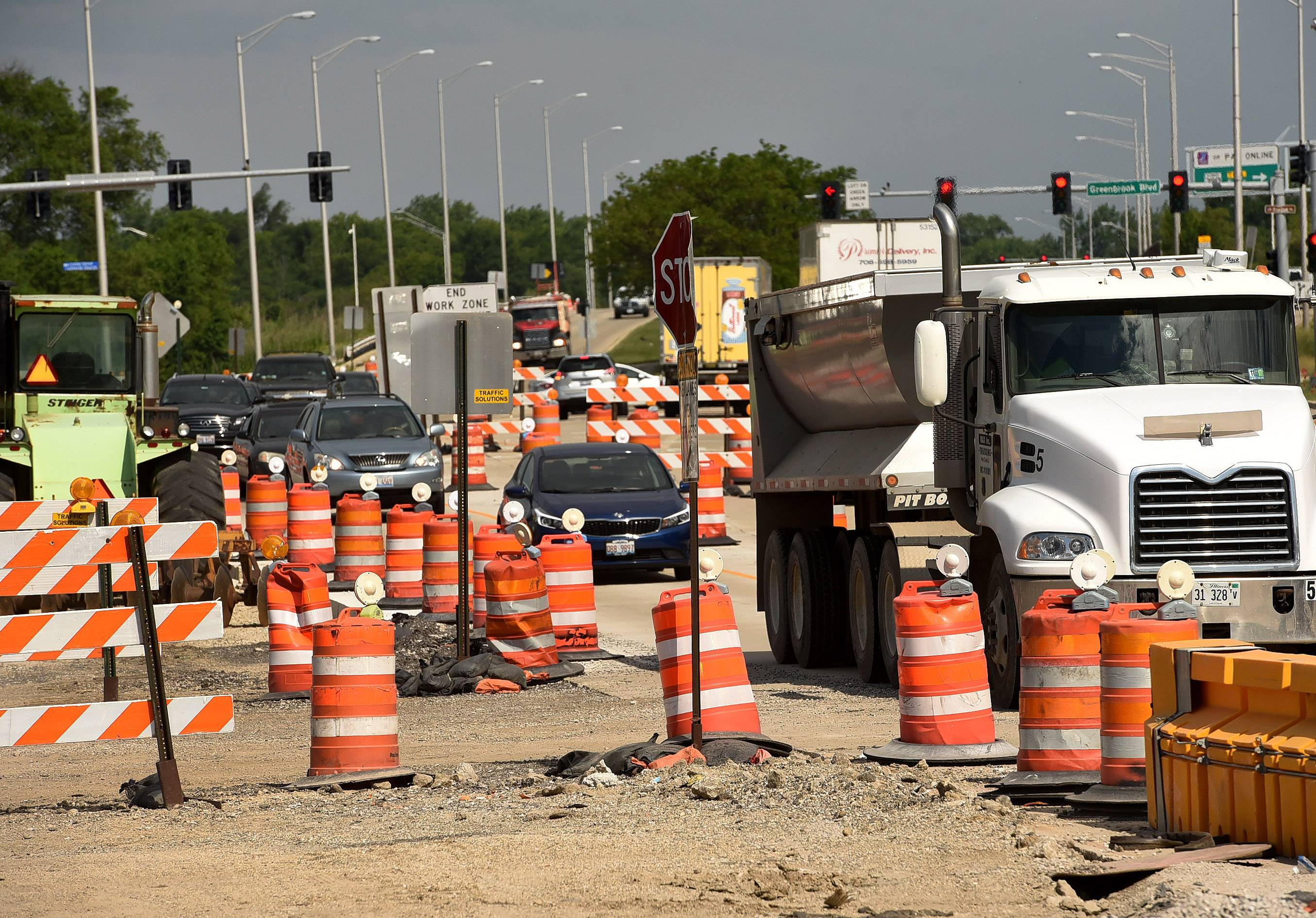 An IDOT project rebuilding Lake Street in Hanover Park is in jeopardy if the state government doesn't resolve budget gridlock. The Illinois Department of Transportation has told contractors to cease work as of Friday if there's no solution.