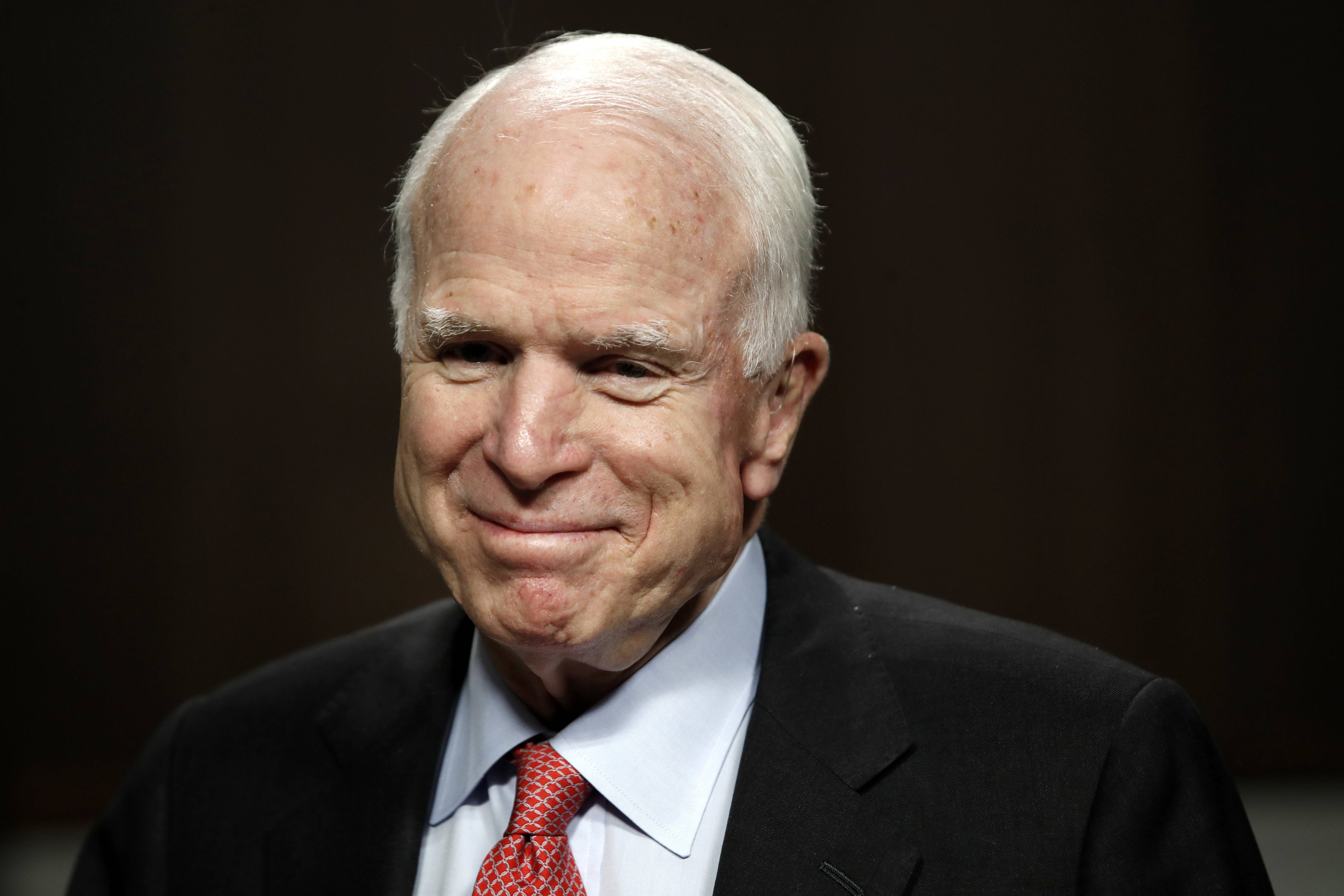 Sen. John McCain, an Arizona Republican, has been diagnosed with a brain tumor after a blood clot was removed.