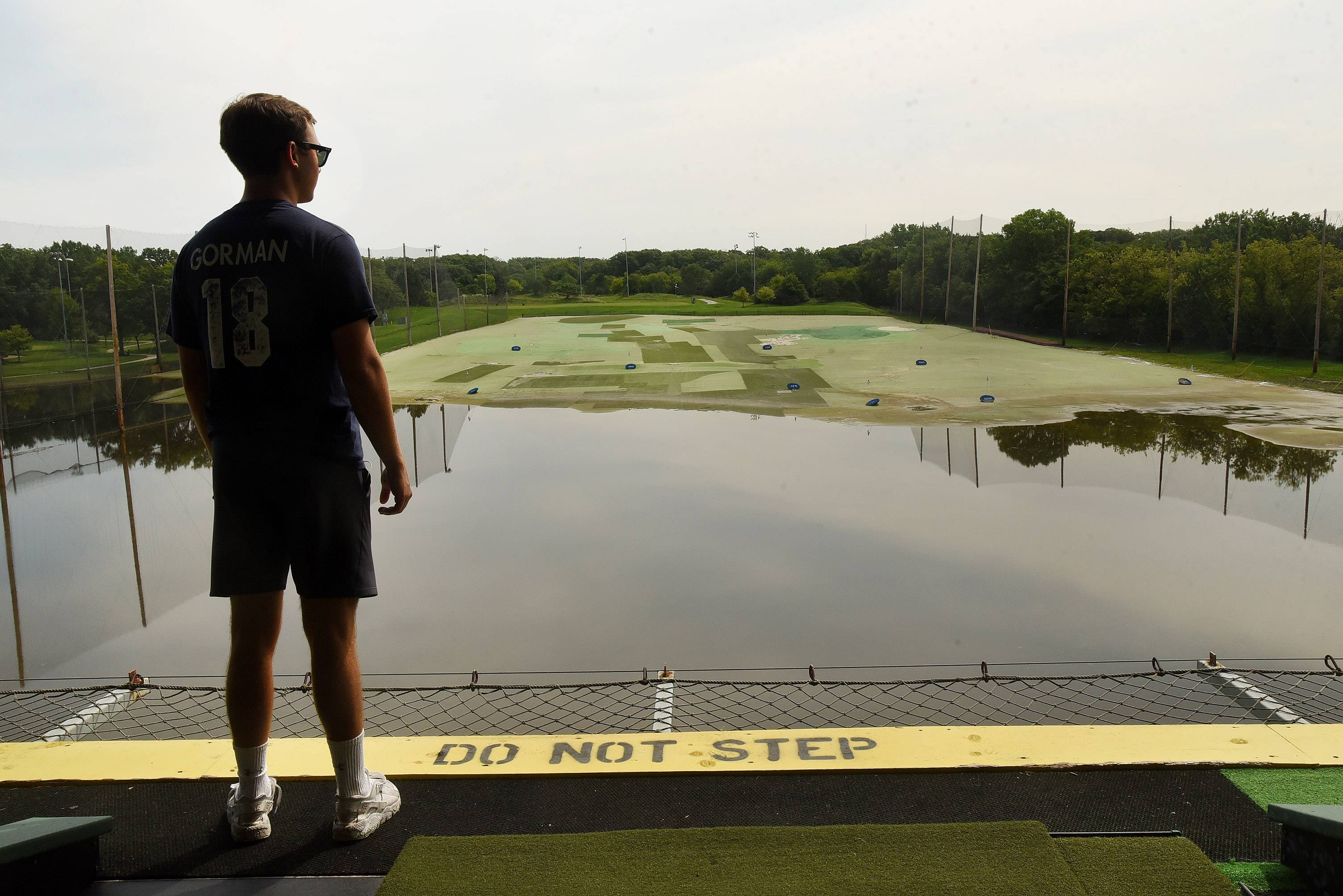The Des Plaines River spilled over its banks and flooded the driving range at Golf Center Des Plaines. Across the suburbs, floodwaters have shut down parks, golf courses, beaches and other recreational amenities.