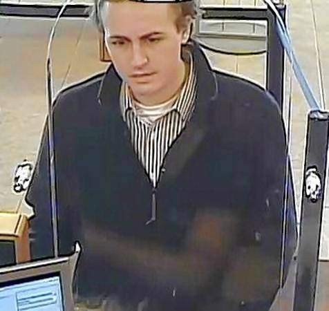 Authorities say this man robbed a Rosemont bank Saturday afternoon. He's believed to be the same person wanted for similar bank heists in Woodridge, Elgin and Buffalo Grove.