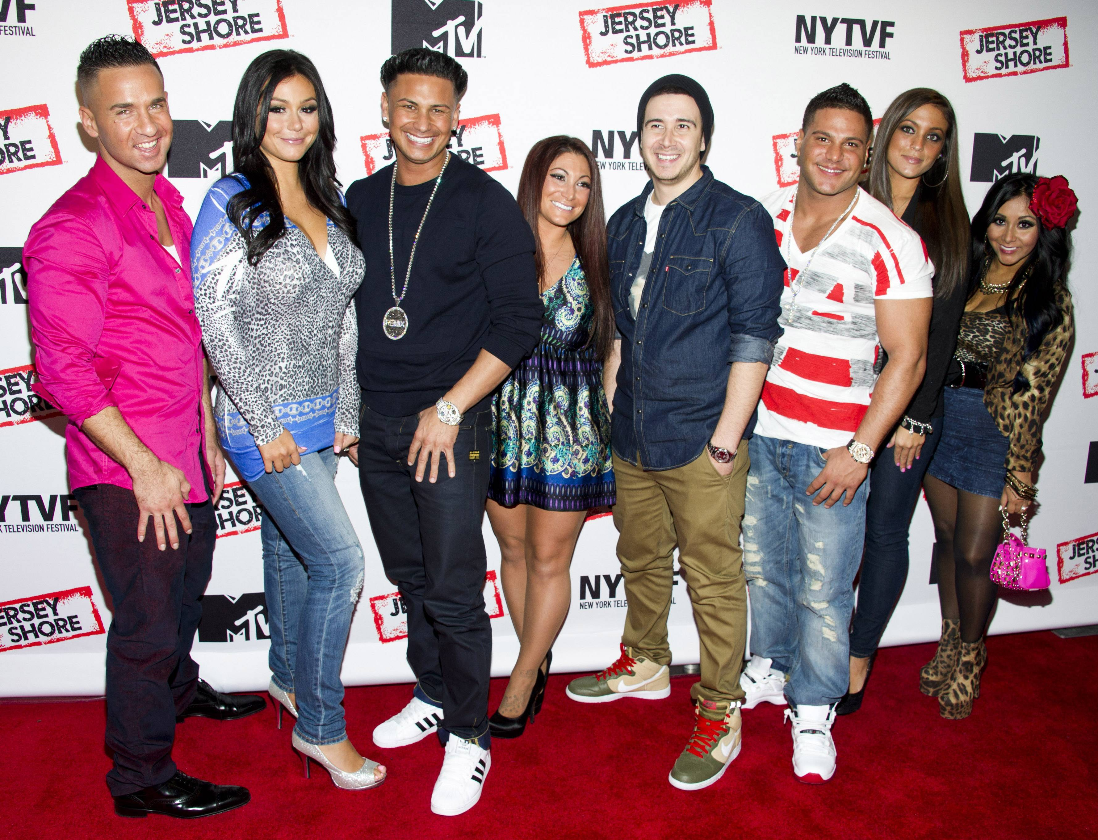"The cast of ""Jersey Shore"" is doing it all again for a special on the E! Network. ""Reunion Road Trip: Return to the Jersey Shore"" brings the gang back together for the first time in five years — Mike ""The Situation"" Sorrentino, Jenni ""JWoww"" Farley, Paul ""Pauly D"" Delvecchio, Deena Cortese, Vinny Guadagnino, Ronnie Ortiz-Magro, Sammi ""Sweetheart"" Giancola and Nicole ""Snooki"" Polizzi."