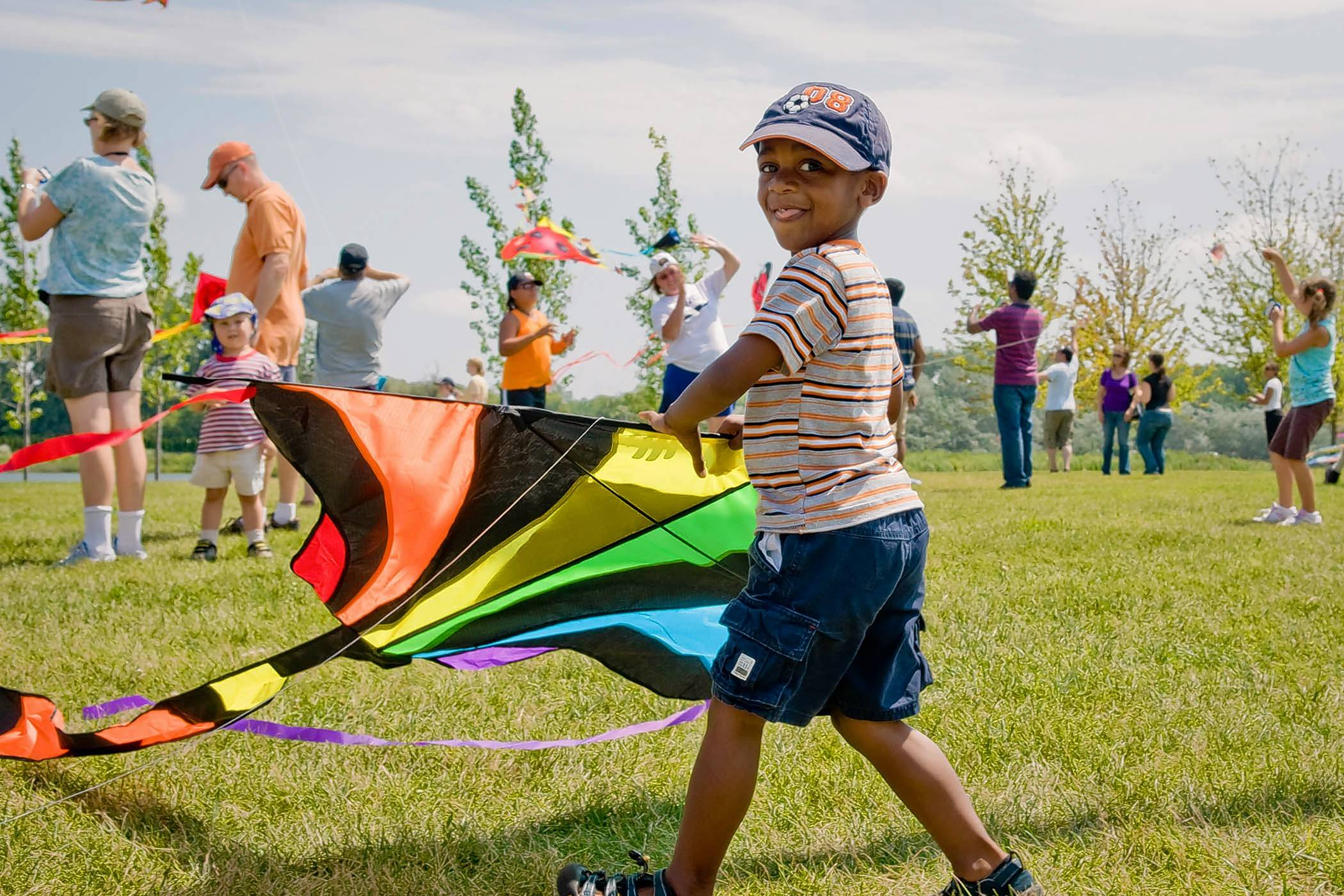 The Chicago Botanic Garden holds a Kite Festival Sunday, Aug. 13.