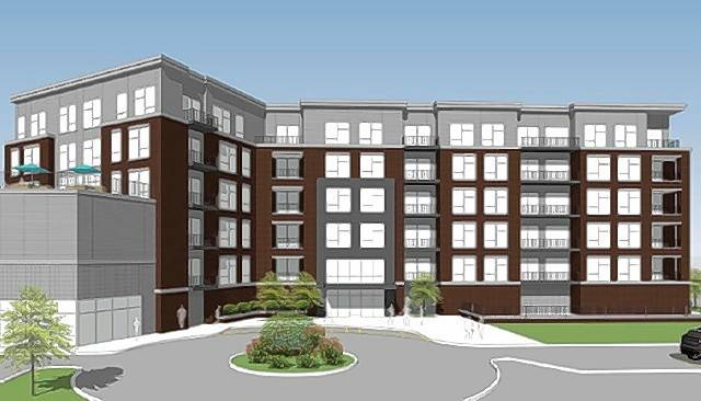 This high-end apartment building is being proposed for downtown Mount Prospect. The six-story building would include about 70 apartment units and lower-level space for retail and restaurants.