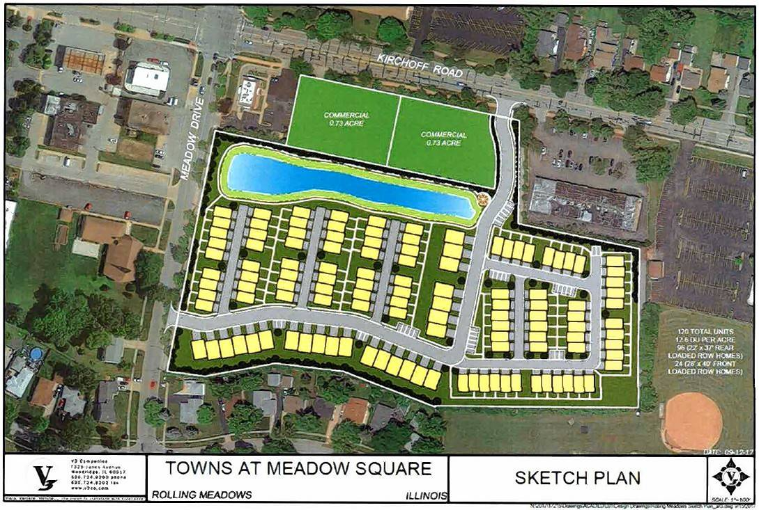 Plan would put 120 townhouses on former Dominick's site in Rolling Meadows