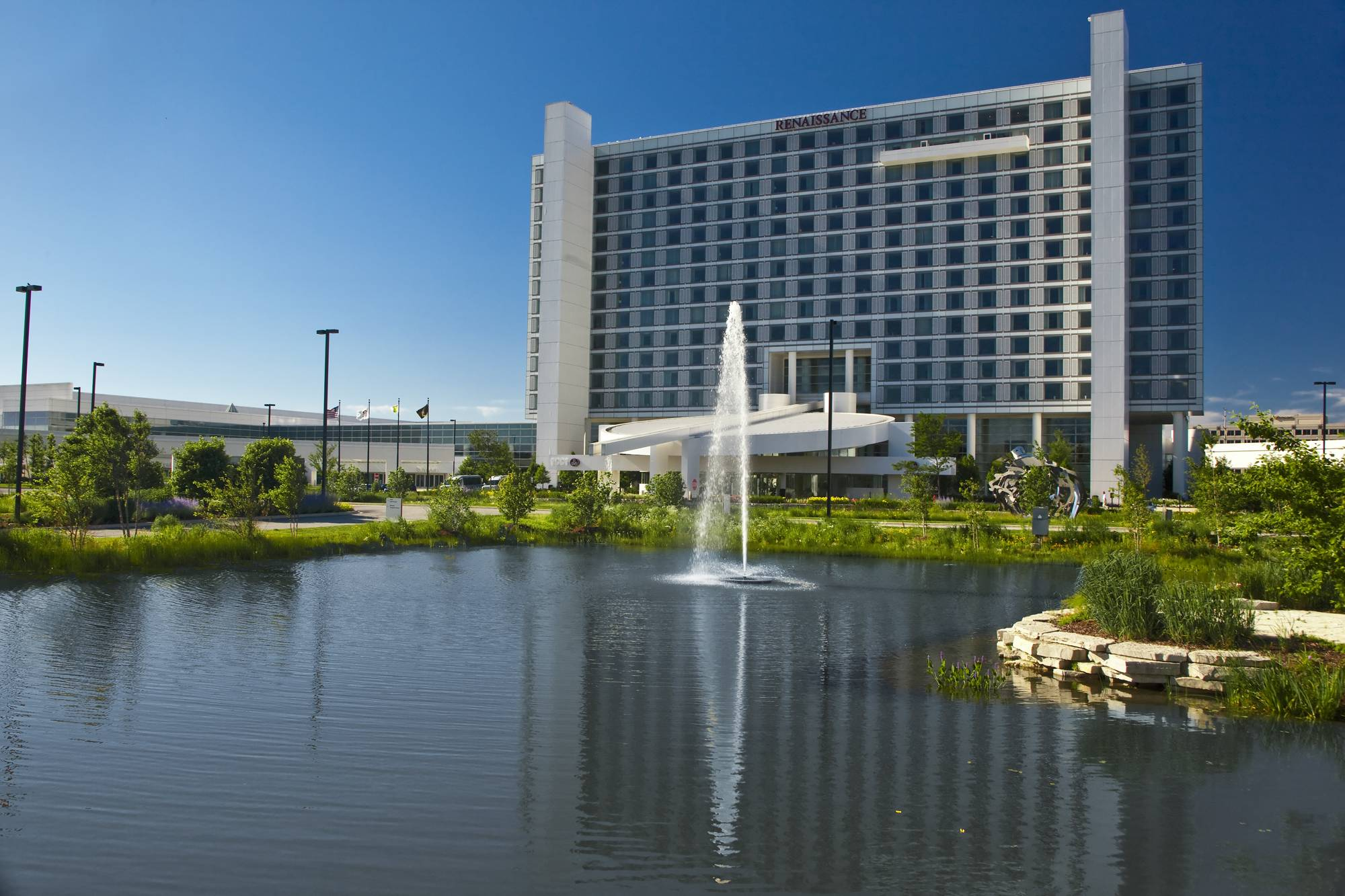 The suburbs are seeing growth in the tourism industry. One factor is that four new hotels opened in the Schaumburg area this past year, joining many others, including the Renaissance Schaumburg Convention Center Hotel.