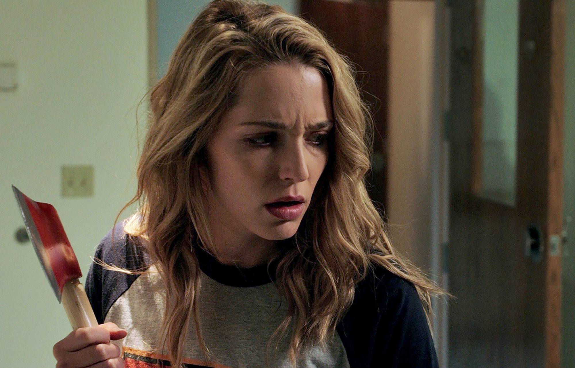 "A college student (Jessica Rothe) relives the day of her murder until she discovers her killer's identity in ""Happy Death Day."""