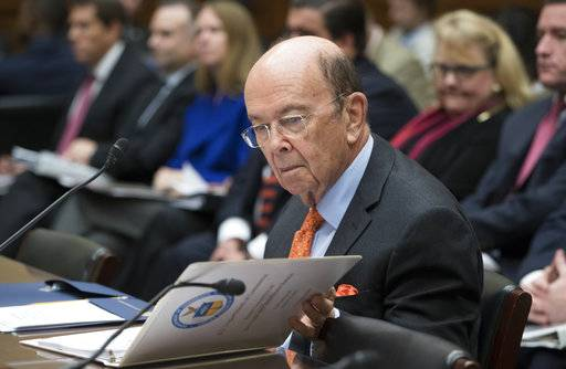 "Commerce Secretary Wilbur Ross appears before the House Committee on Oversight and Government Reform to discuss preparing for the 2020 Census, on Capitol Hill in Washington, Thursday, Oct. 12, 2017. The Trump administration acknowledged on Thursday that billions more dollars are ""urgently needed"" to ensure a fair and accurate count during the 2020 Census."