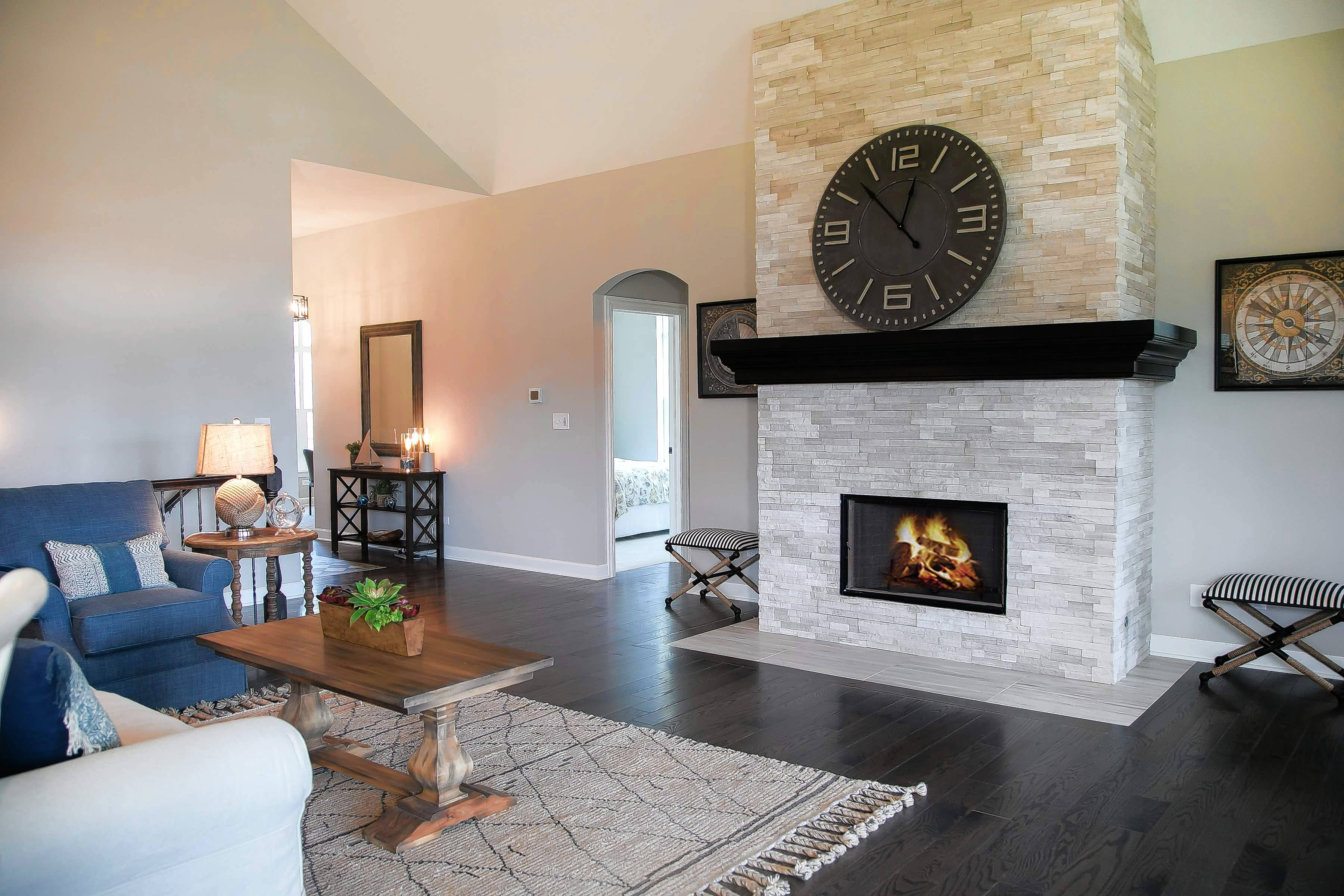 A fireplace is one of many home options available at The Lakes of Boulder Ridge, which will host a Fall Extravaganza this weekend.