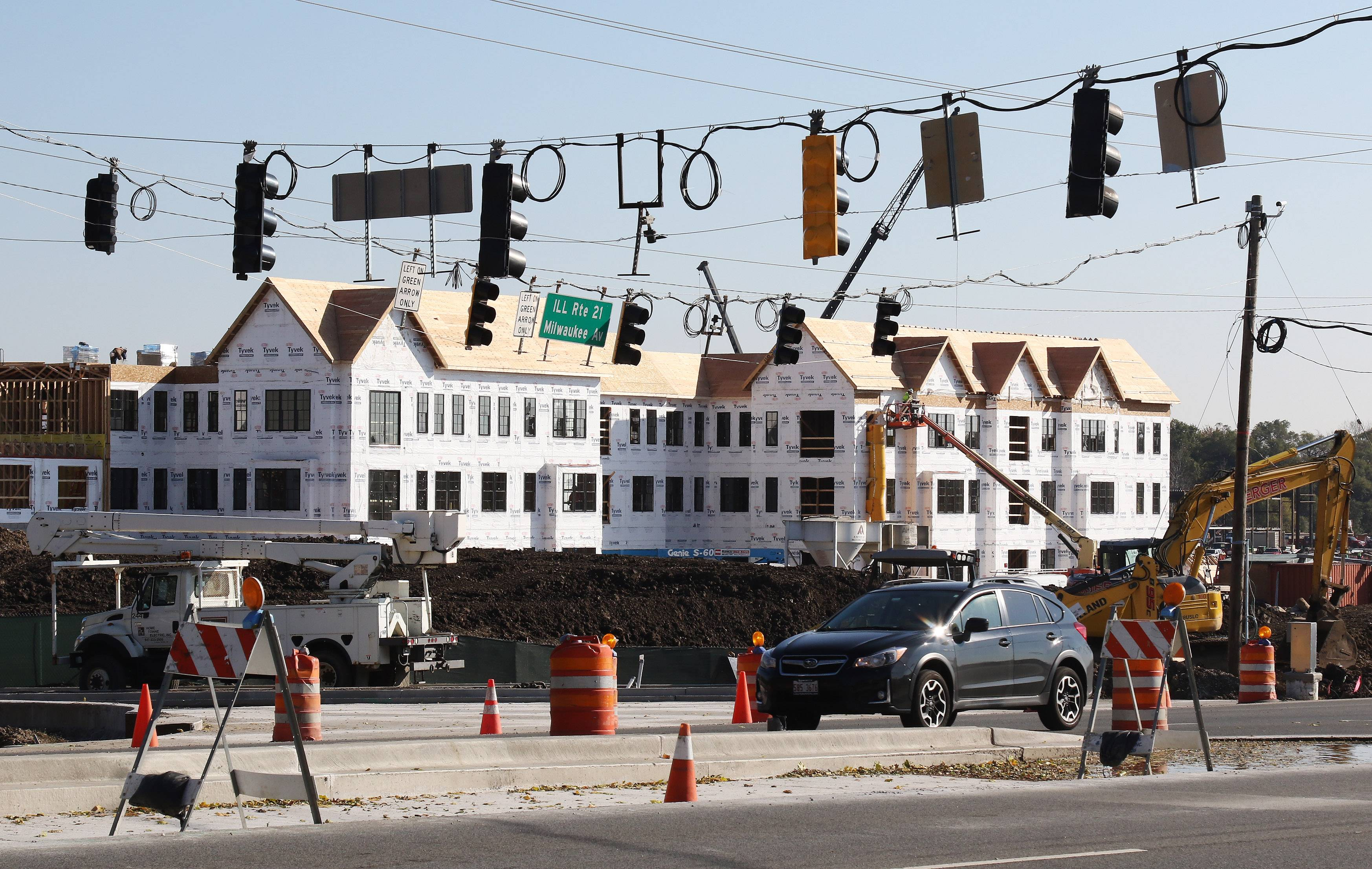 Construction continues at the Mellody Farm development at the intersection of routes 21 and 60 in Vernon Hills.
