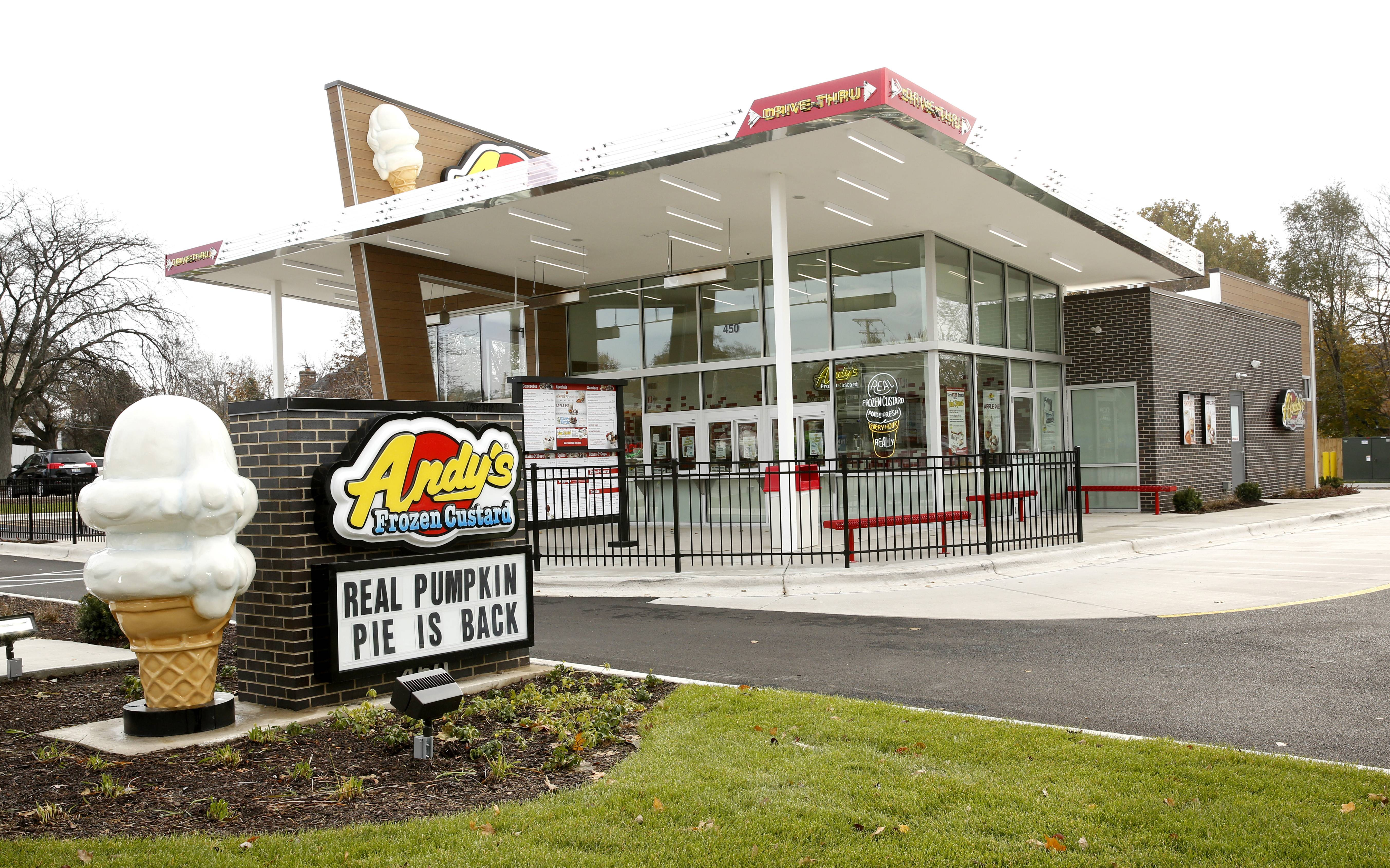 Andy's Frozen Custard opened a Naperville shop in September at 450 E. Ogden Ave. The chain is now planning to open a new shop in Glen Ellyn.