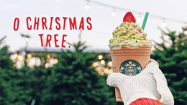 Starbucks launches Christmas Tree Frappuccino