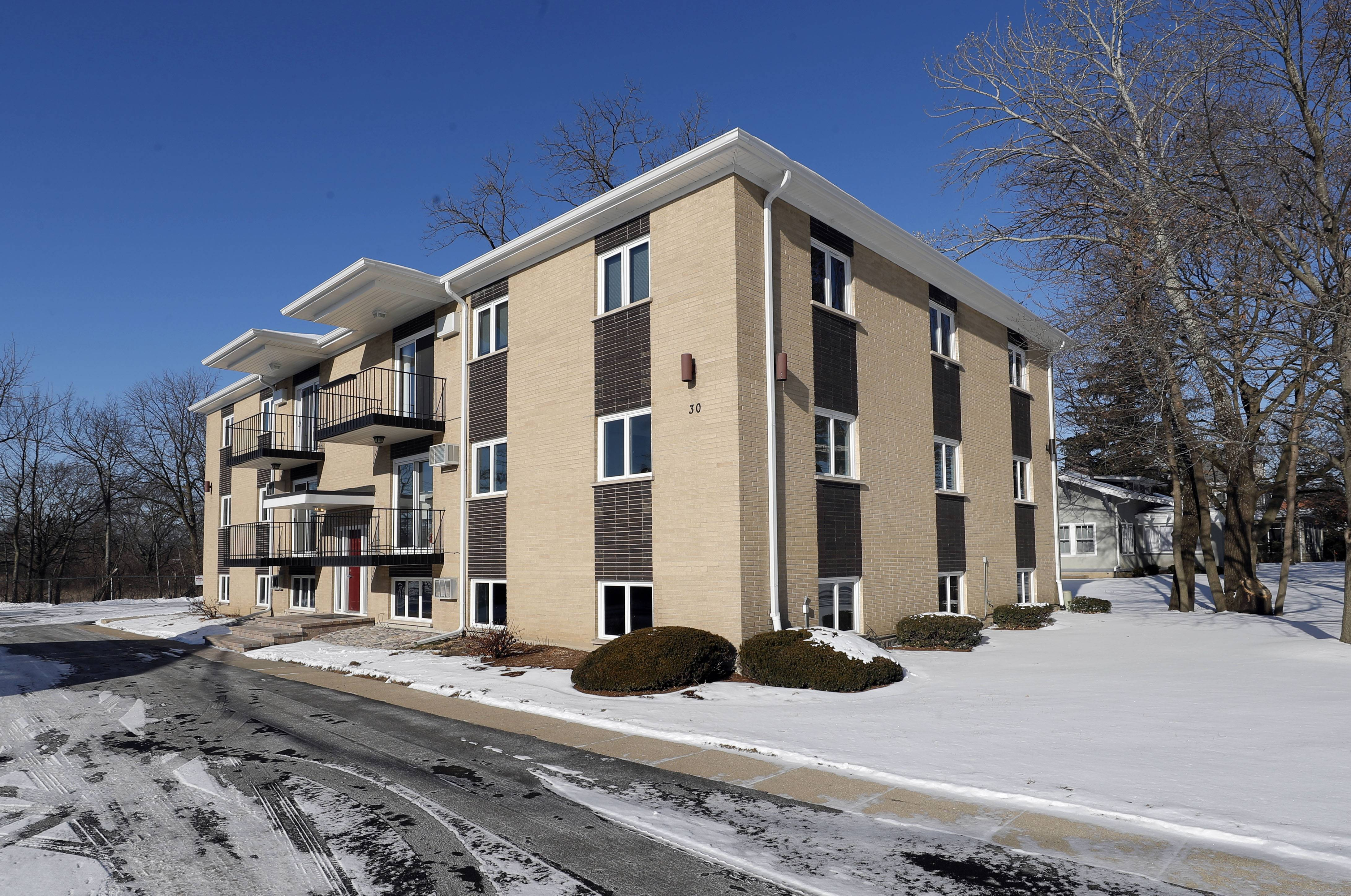 This 12-unit apartment building on Cedar Avenue in Lake Villa was rehabbed as part of a village incentive to revive what is considered the downtown area.