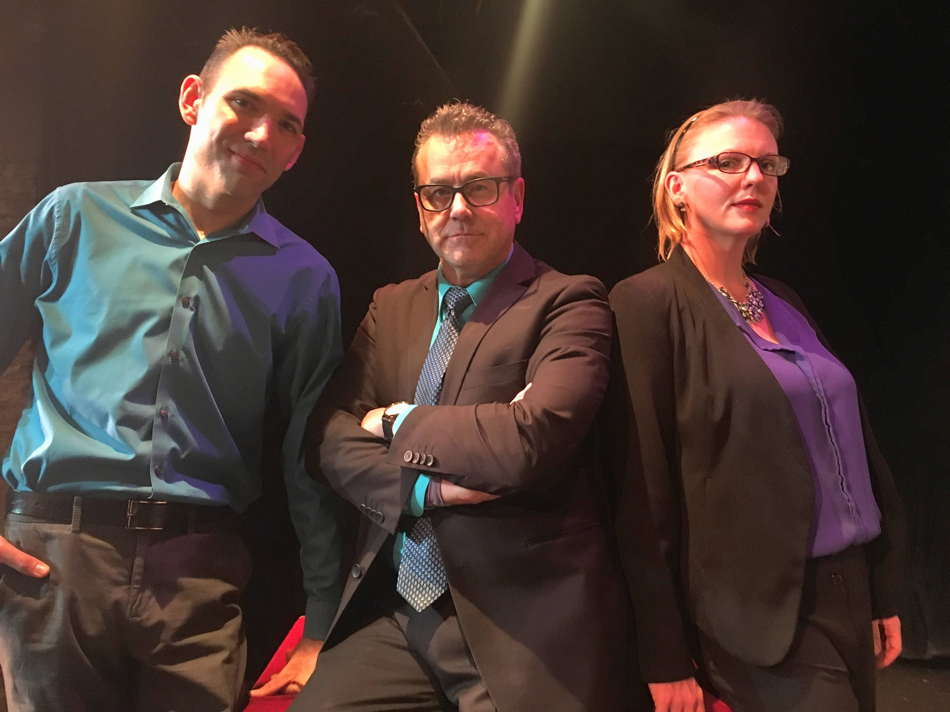 "Steel Beam Theatre will present the Midwest debut of Sarah Burgess' ""Dry Powder,"" a fast-paced drama/comedy about the world of high finance. The play runs through Feb. 4 at Steel Beam Theatre in St. Charles. Cast members include, from left, Justin Schaller, John Westby, and Jennifer Reeves-Wilson."