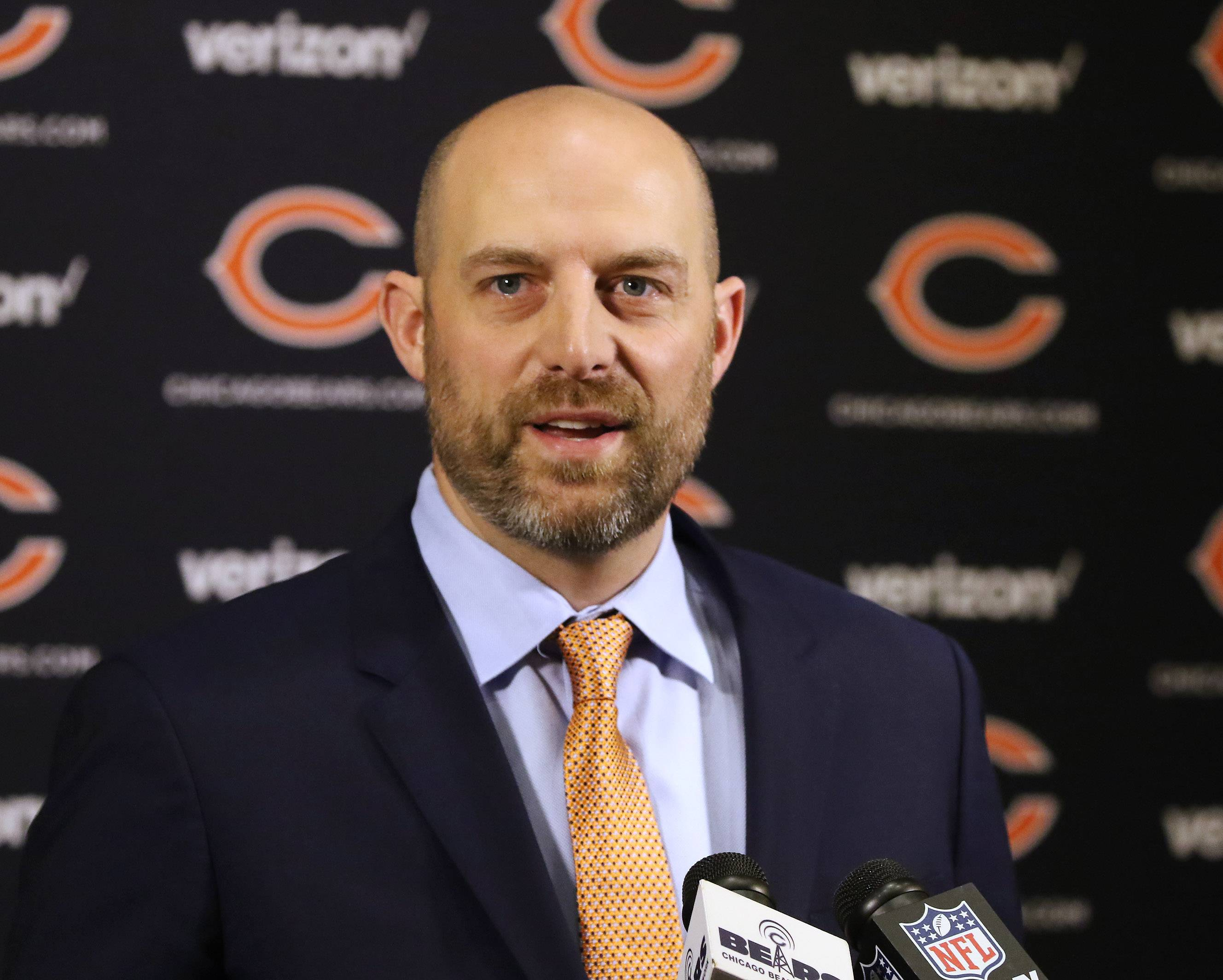 At age 39, Matt Nagy is the new head coach of the Chicago Bears and only a few months younger than the team's general manager, Ryan Pace.