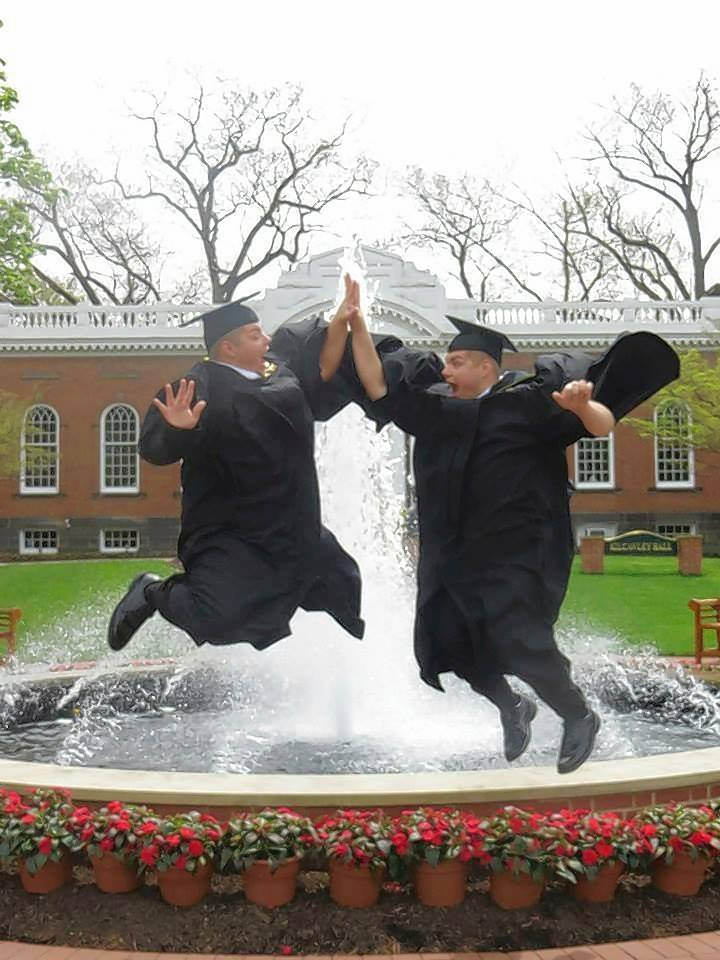 They dress alike, they sound alike, they act alike, and Wauconda identical twins Skyler, left, and Spencer Nick even celebrate earning their MBAs alike during this 2016 graduation at Lake Erie College in Ohio.